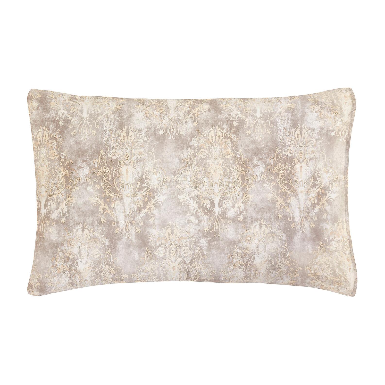 Federa raso di cotone fantasia cachemire, Beige, large image number 0