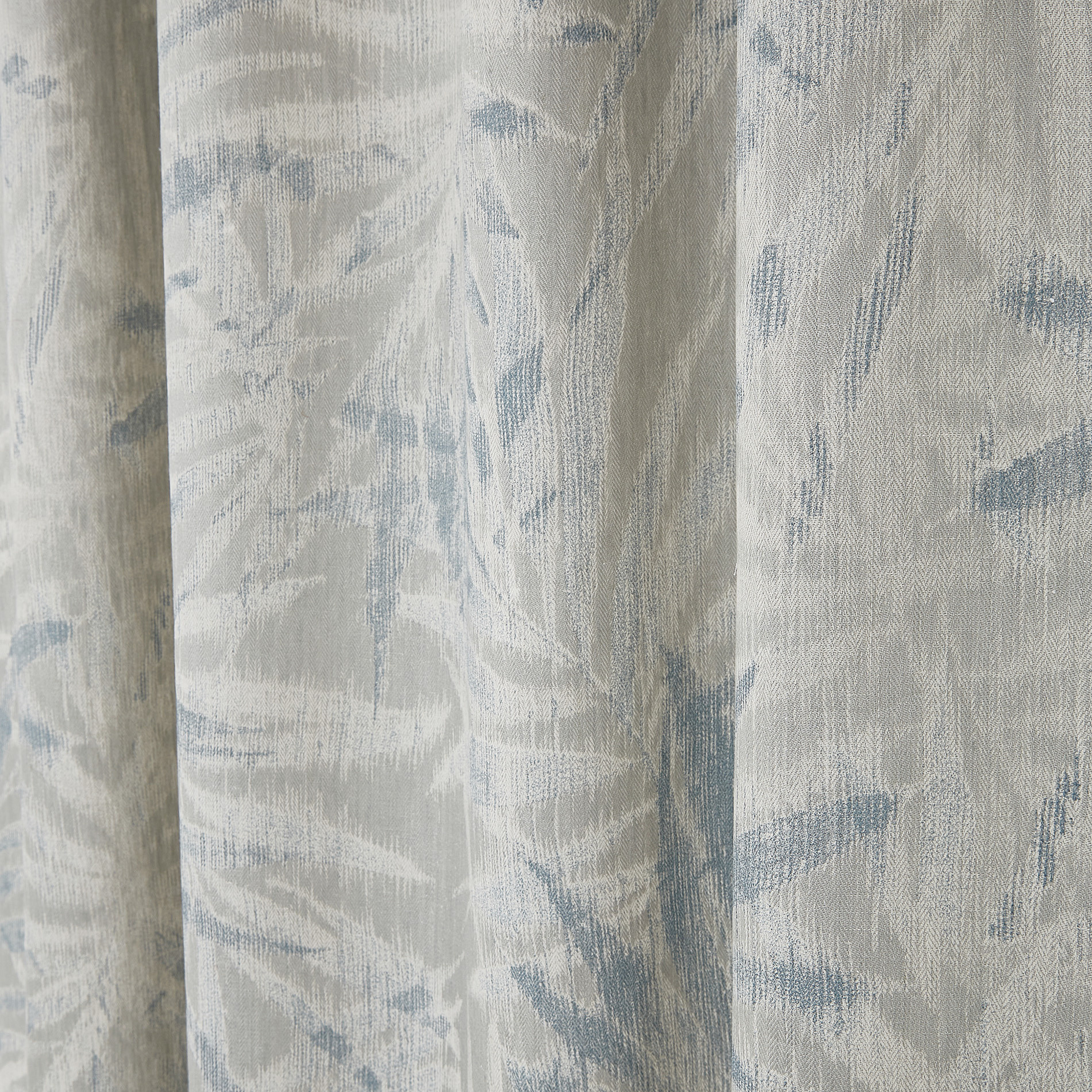 Tenda devore motivo foglie passanti nascosti, Grigio chiaro, large image number 3