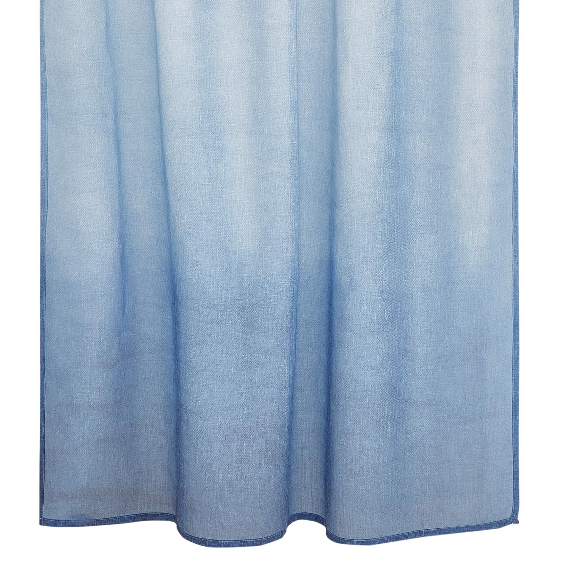 Tenda tessuto sfumato passanti nascosti, Azzurro, large image number 0