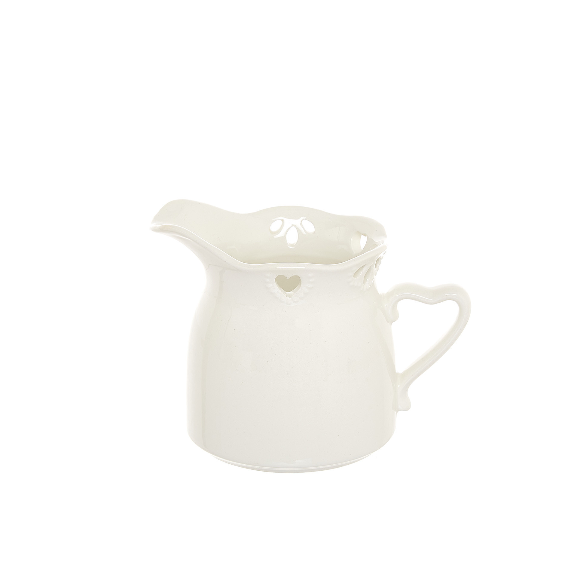 Lattiera ceramica traforata, Bianco, large image number 0