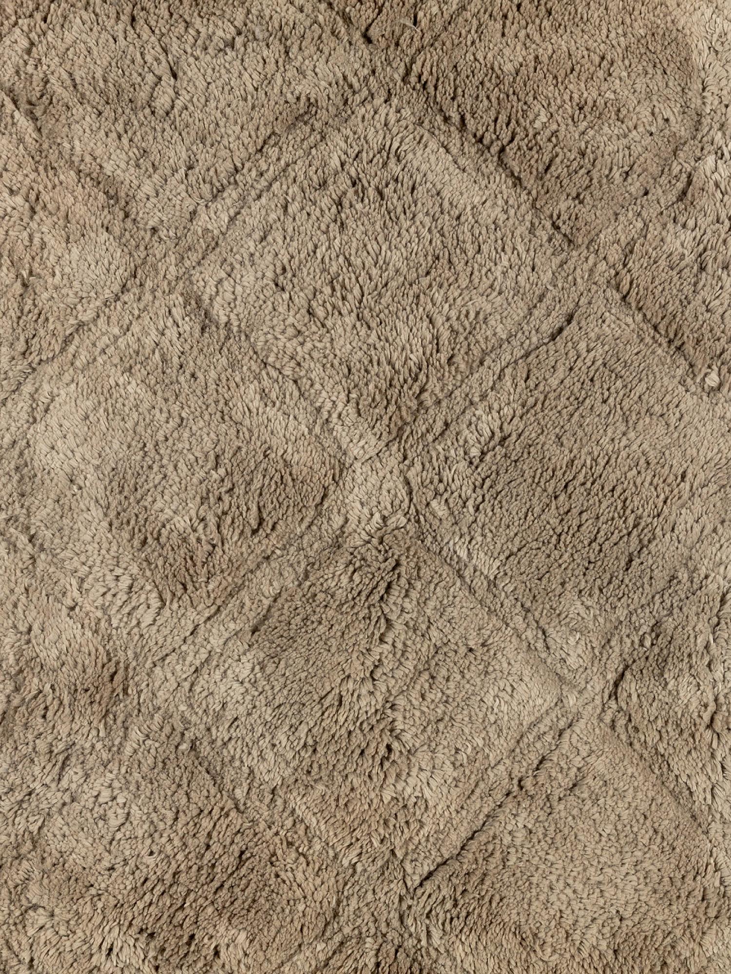 Tappeto bagno spugna di cotone motivo a rombi, Beige, large image number 1