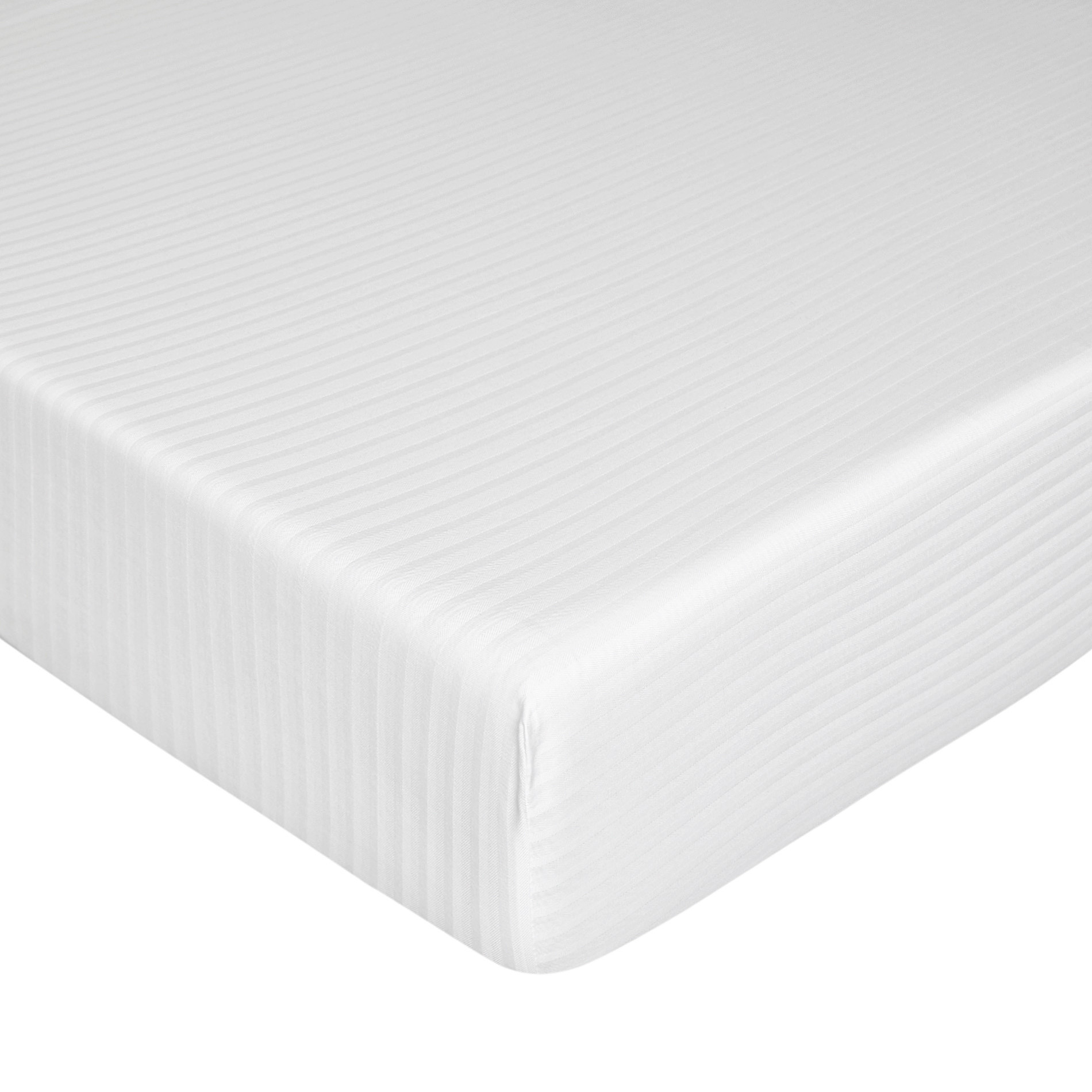Coprimaterasso raso di cotone, Bianco, large image number 0