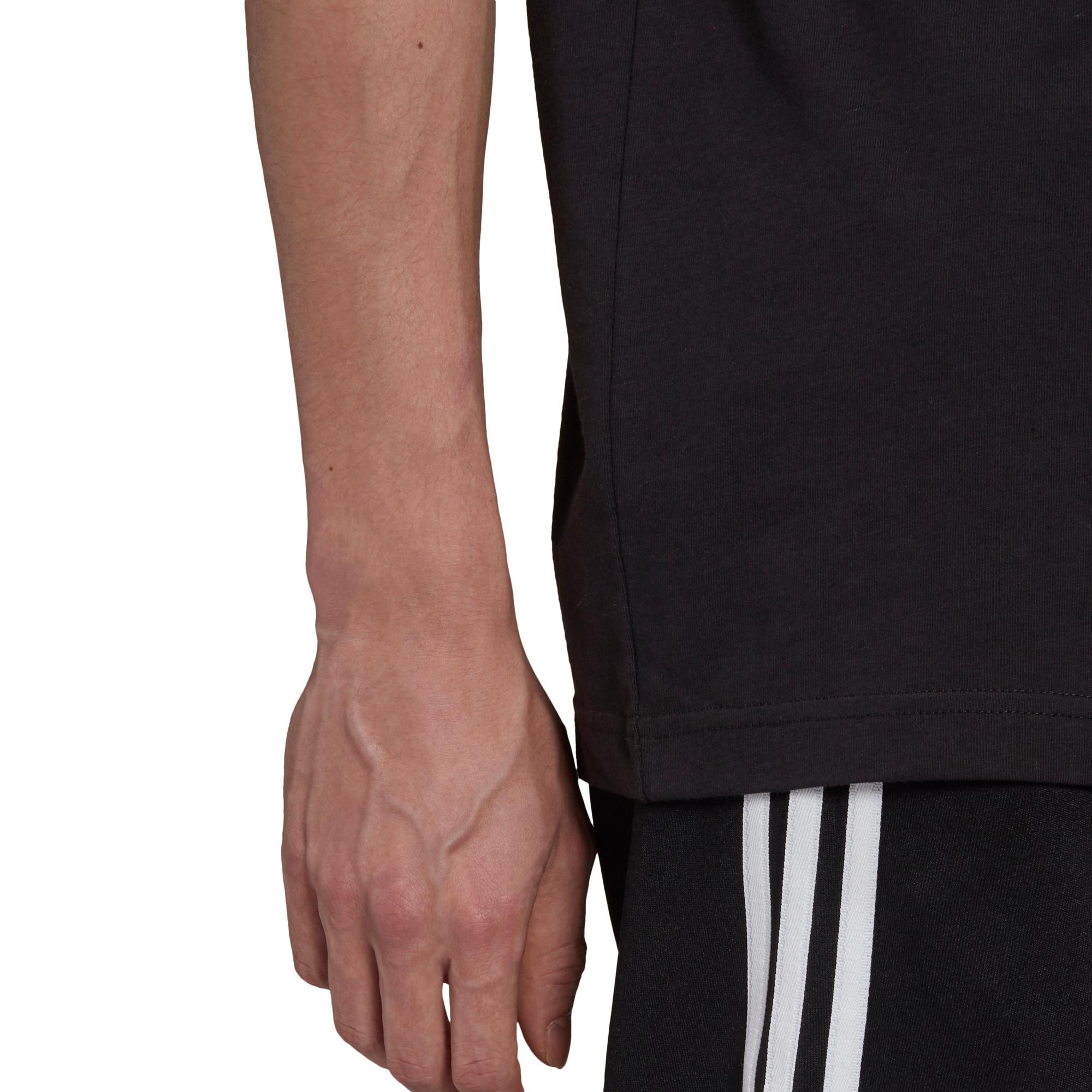 T-shirt uomo adicolor Classics Trefoil, Nero/Bianco, large image number 4