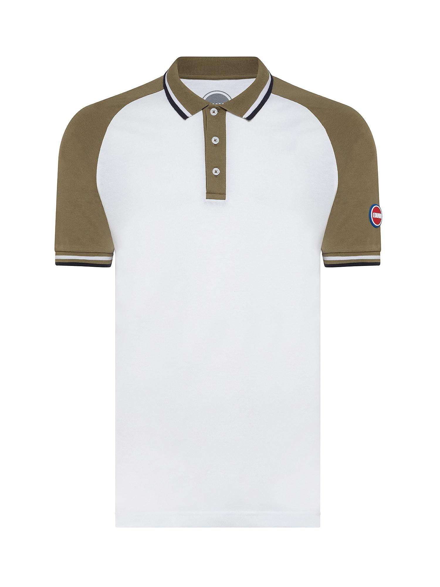 Polo uomo manica corta, Bianco, large image number 0