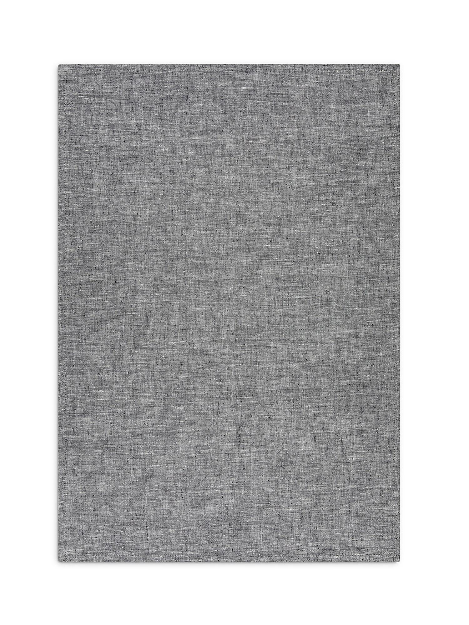 Strofinaccio lino lavato tinta unita, Grigio, large image number 1