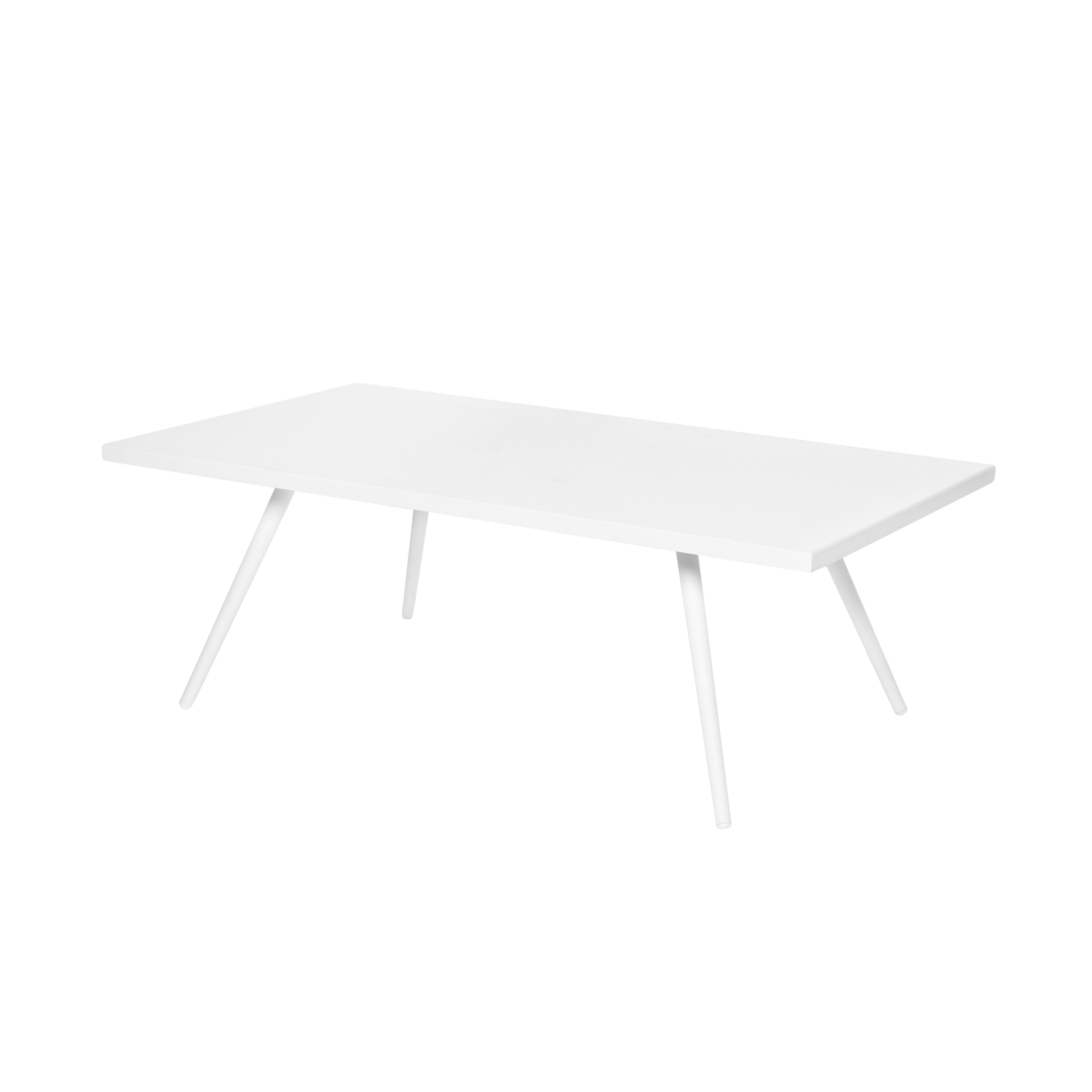 Tavolino alluminio verniciato Cancun, Bianco, large image number 0