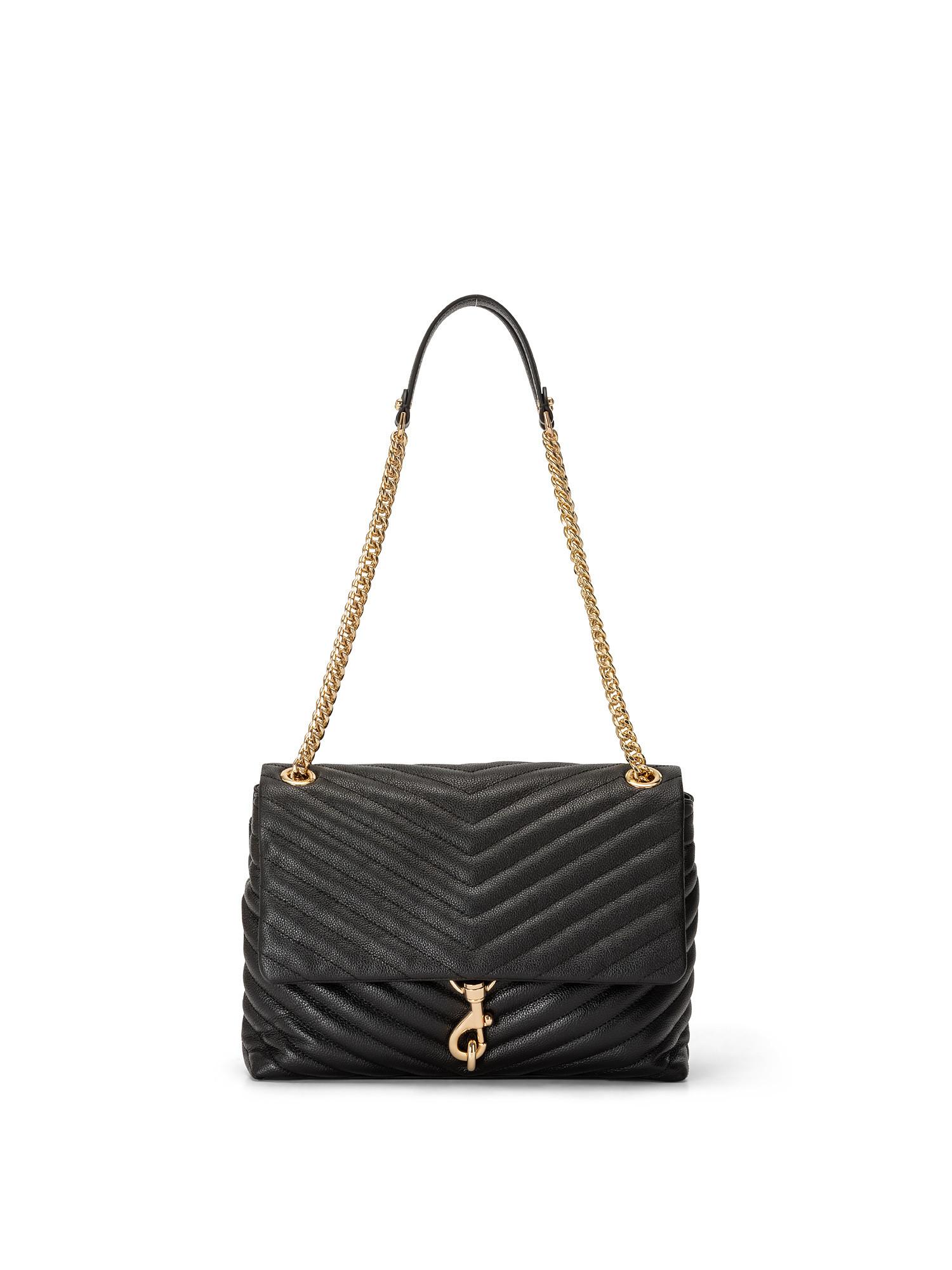Edie Flap Shoulder Bag, Nero, large image number 0