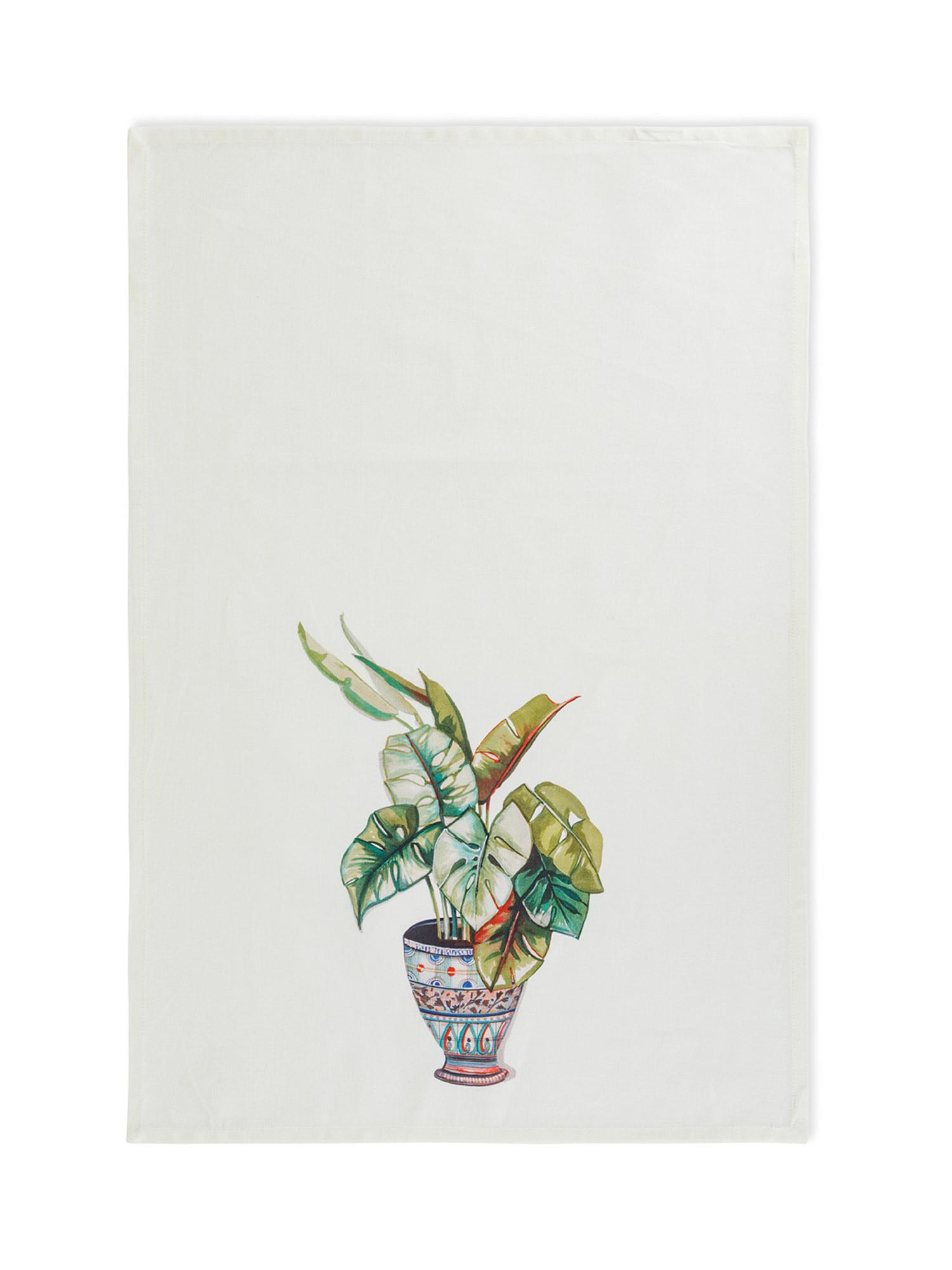 Set 3 strofinacci puro cotone stampa vasi, Multicolor, large image number 1