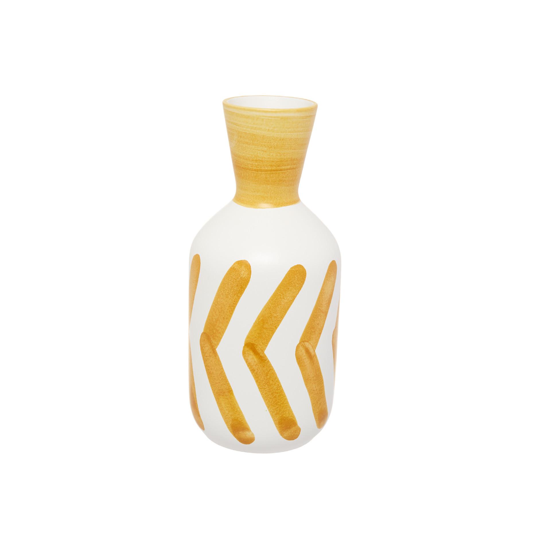 Vaso ceramica artigianale, Bianco, large image number 0