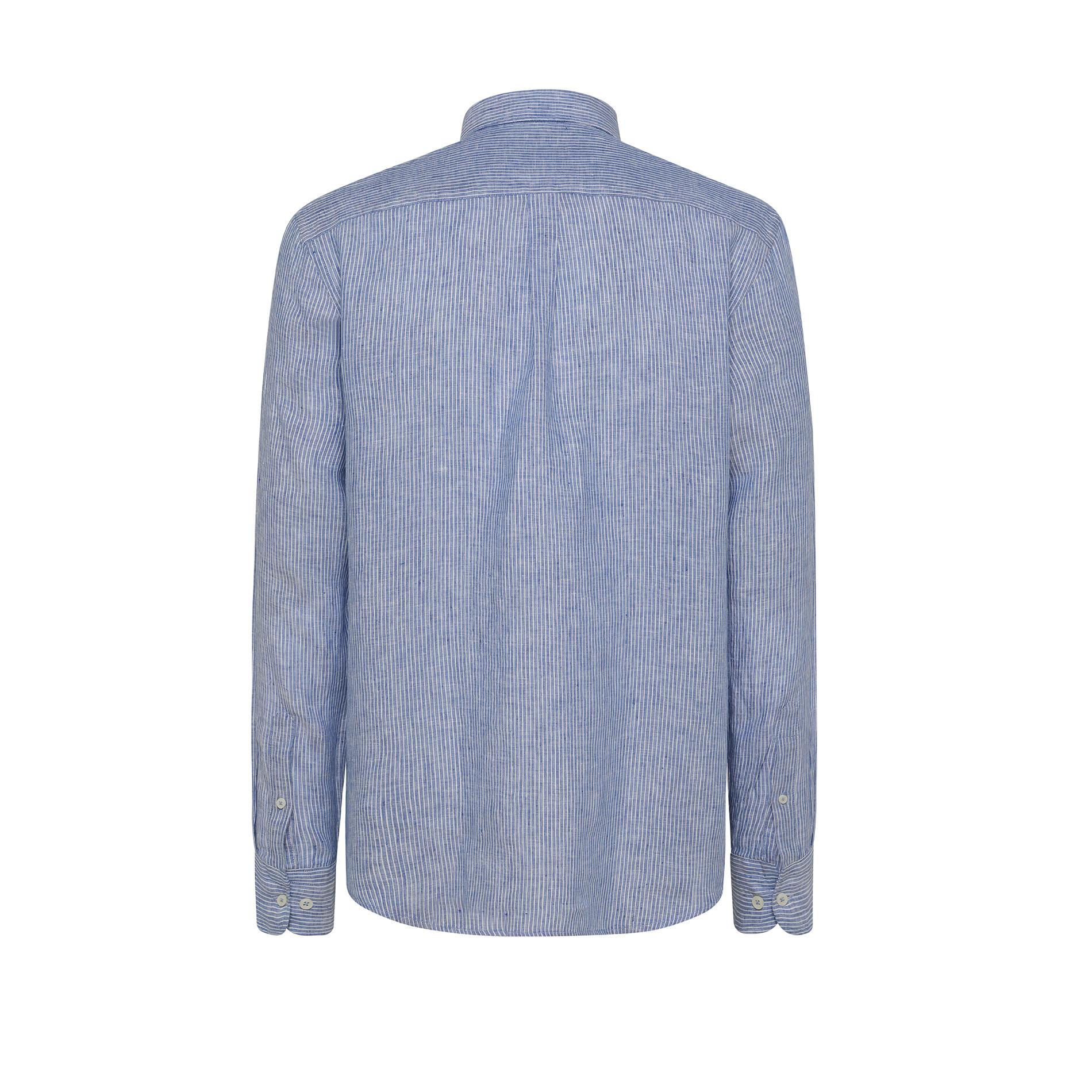 Camicia puro lino tailor fit Luca D'Altieri, Azzurro, large image number 1