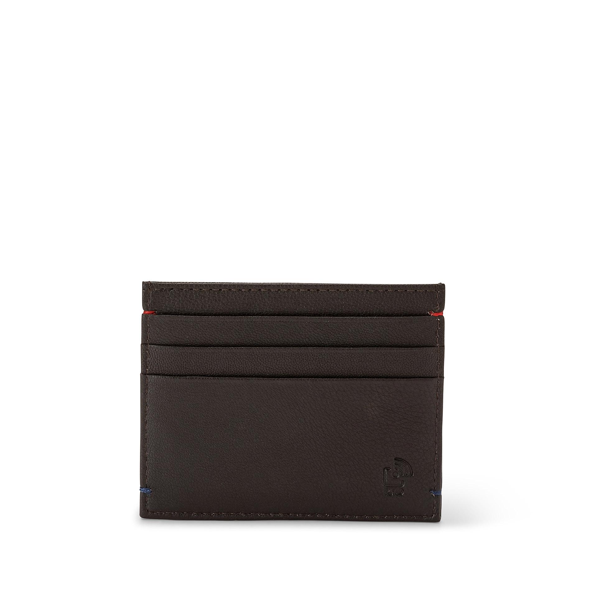 Porta carte di credito in pelle Luca D'Altieri, Marrone scuro, large image number 2