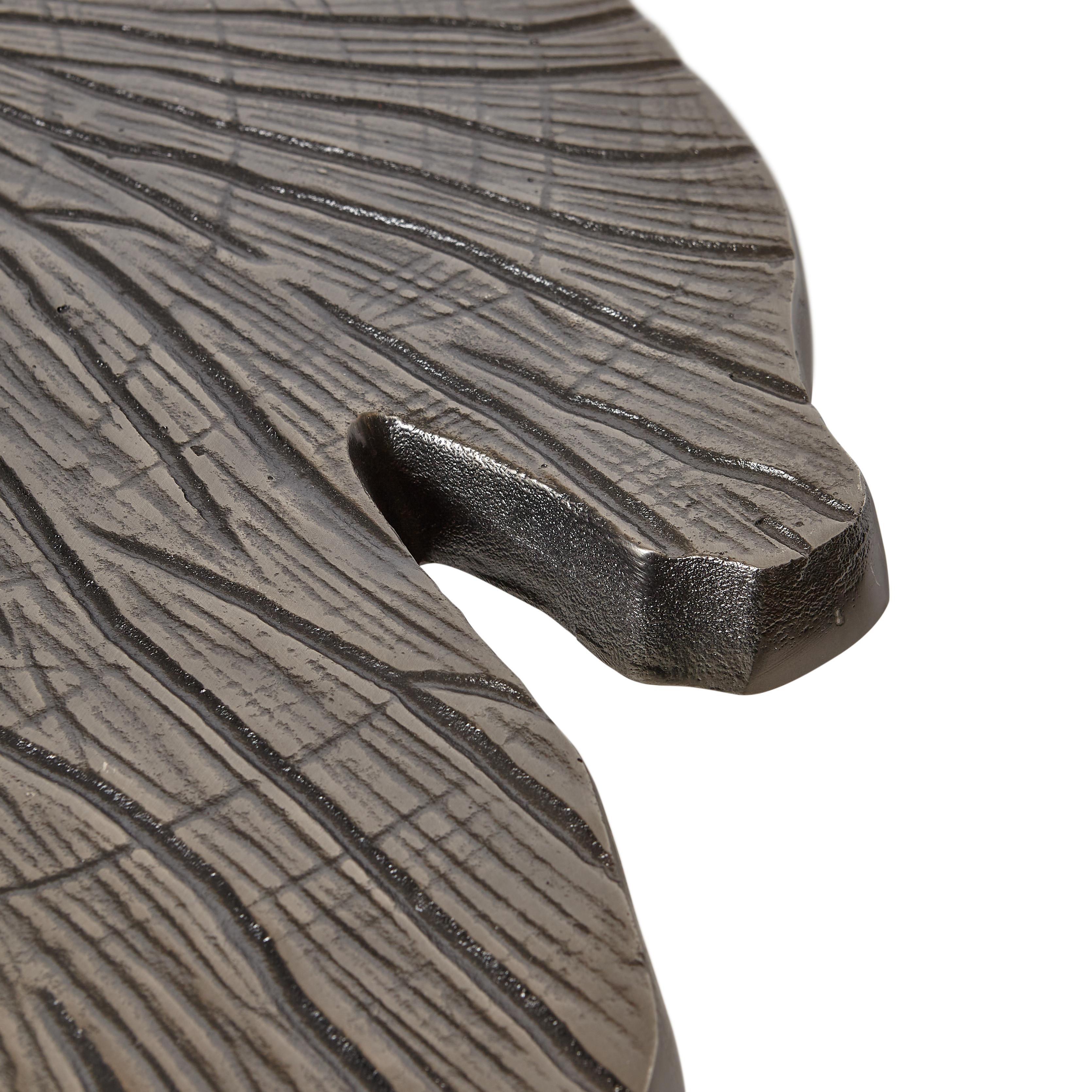 Tavolino in alluminio a foglia Leaf, Grigio argento, large image number 2
