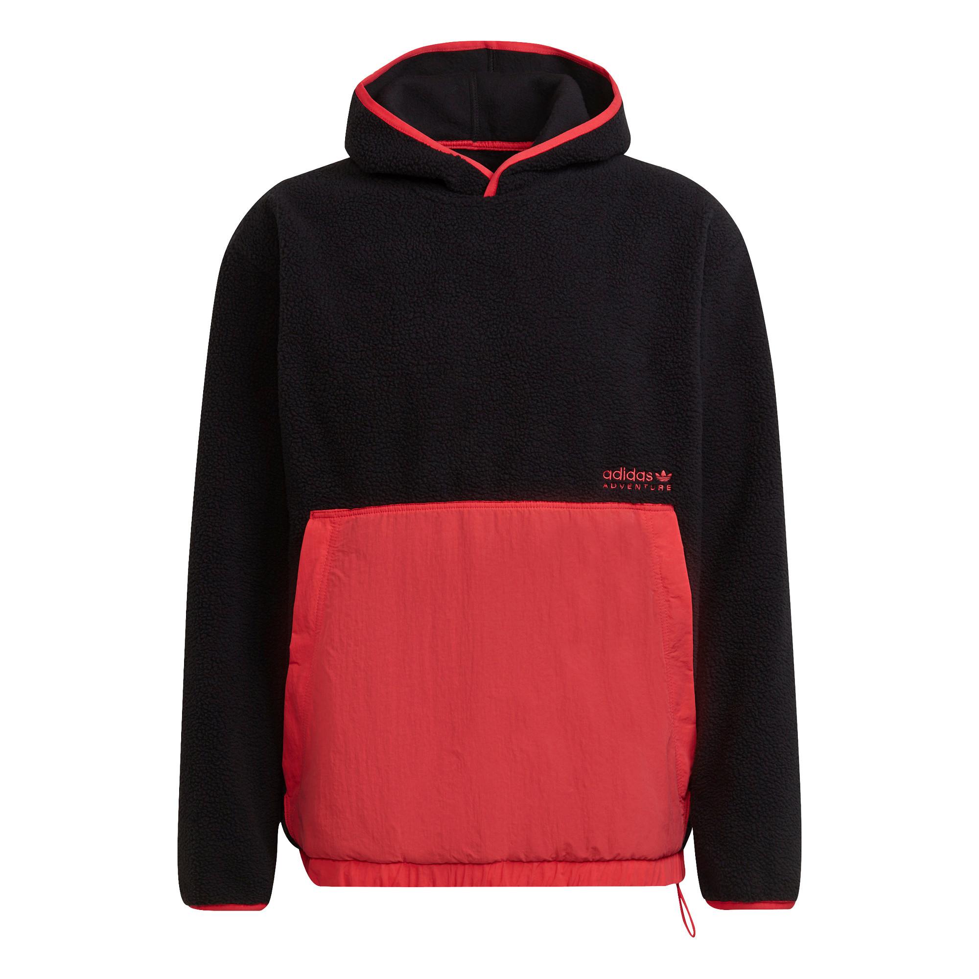 Felpa con cappuccio adidas Adventure Polar Fleece, Nero, large image number 0