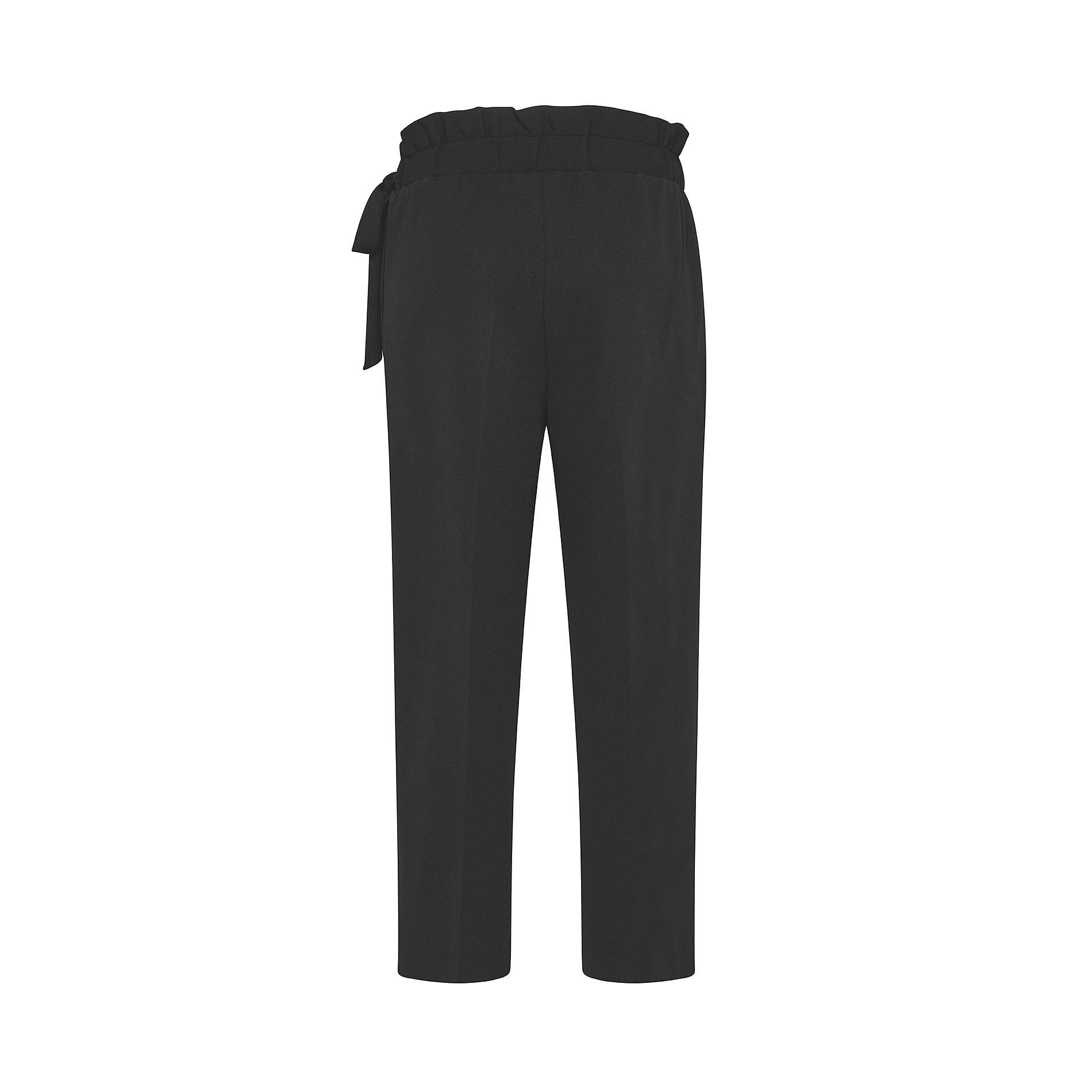 Pantalone ampio tessuto crêpe Koan, Nero, large image number 1