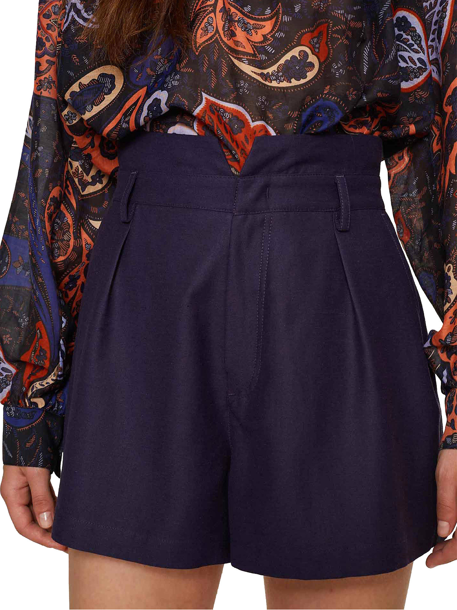 Shorts in shantung Ginger, Viola lilla, large image number 4