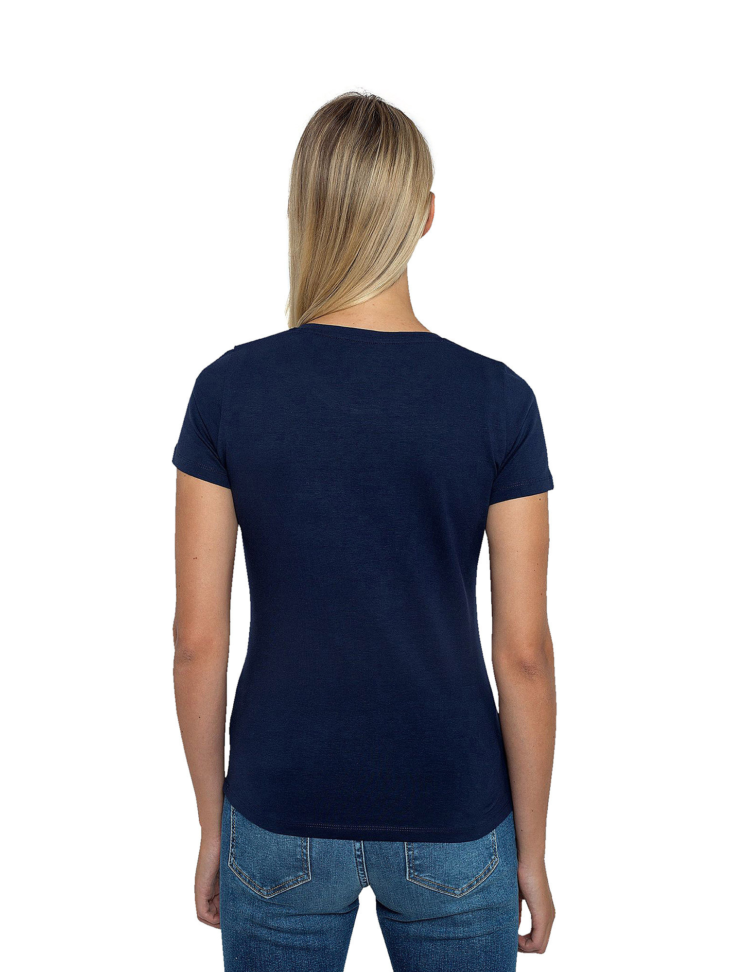 T-Shirt in LYCRA, Blu/Rosso, large image number 2