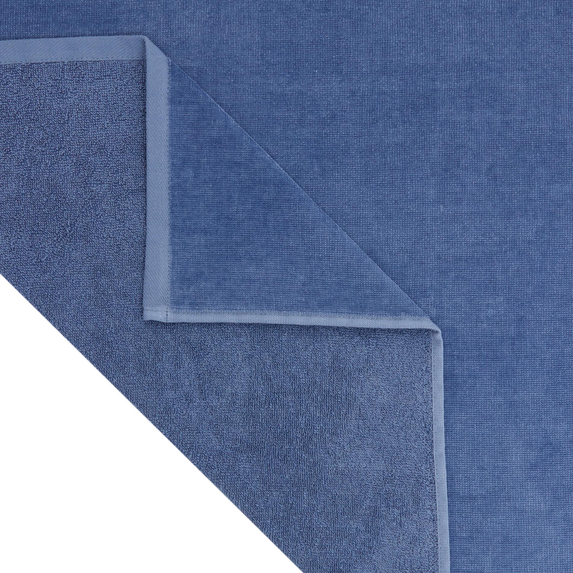 Telo mare in spugna di cotone con tasca, Blu scuro, large image number 2