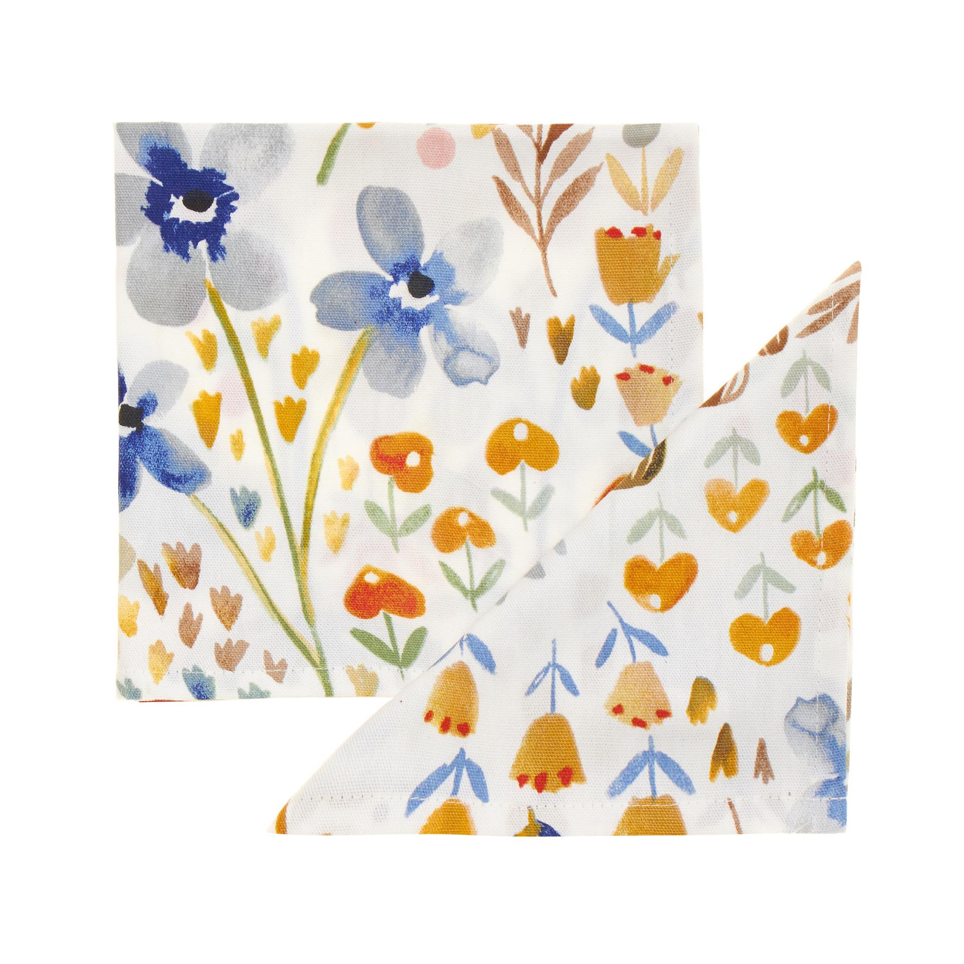 Set due tovaglioli in puro cotone Naif, Multicolor, large image number 0