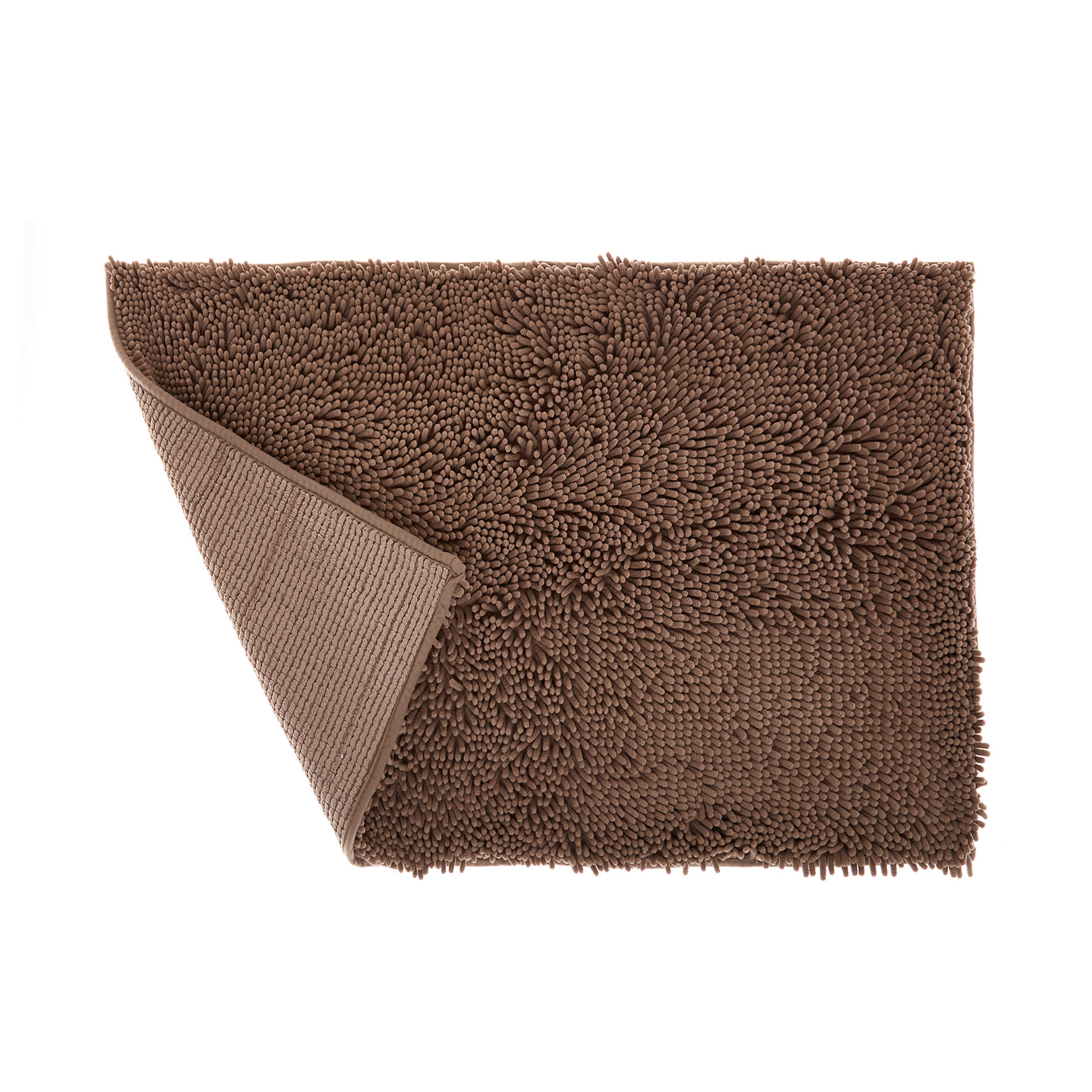 Tappeto bagno microfibra shaggy, Beige scuro, large image number 1