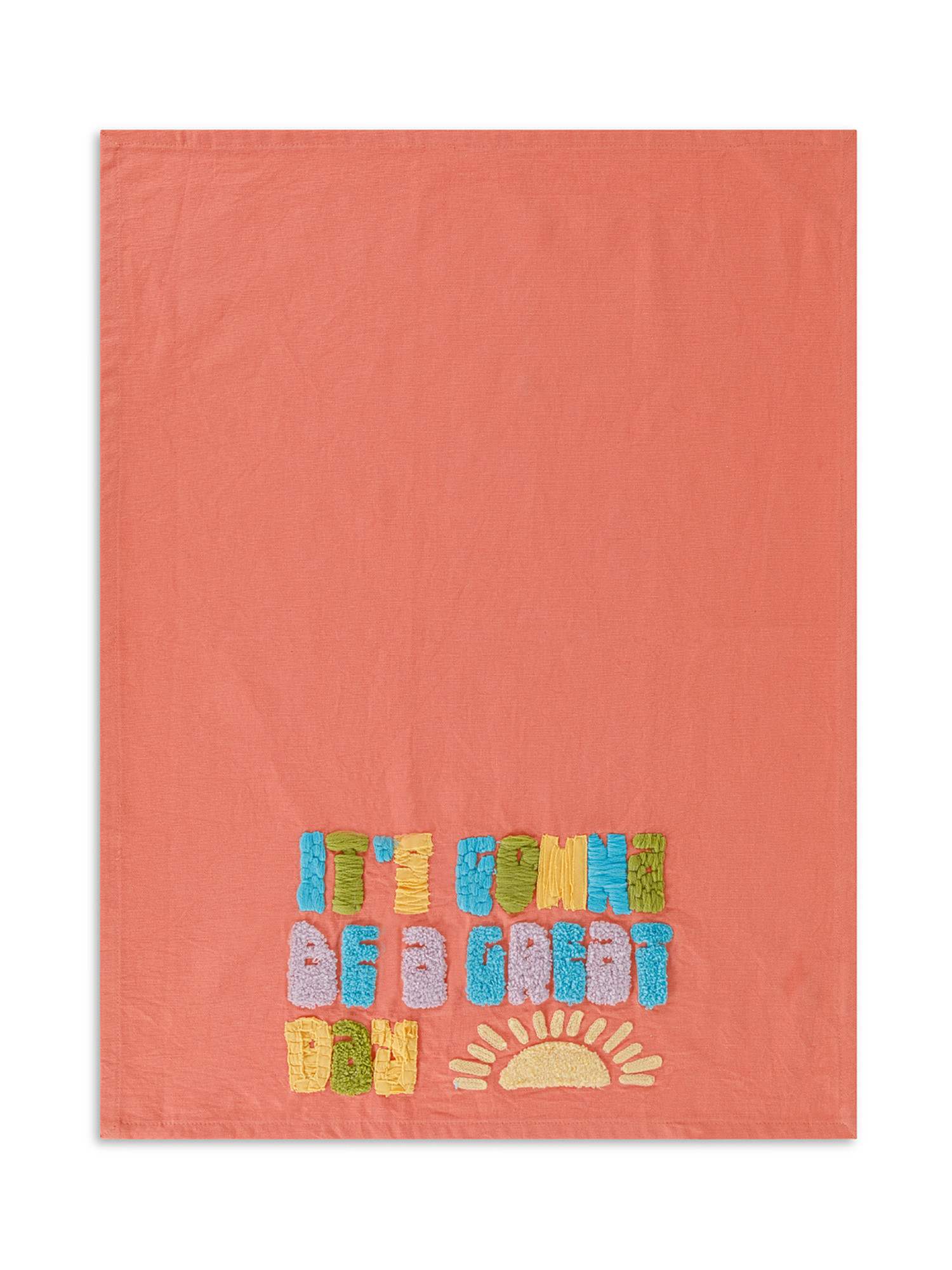 Set 2 strofinacci puro cotone con ricami, Multicolor, large image number 2