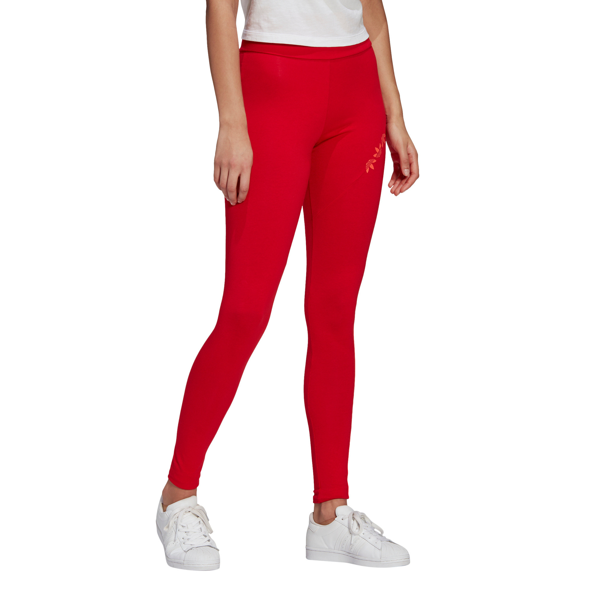 Tight adicolor Sliced Trefoil High-Waisted, Rosso, large image number 5