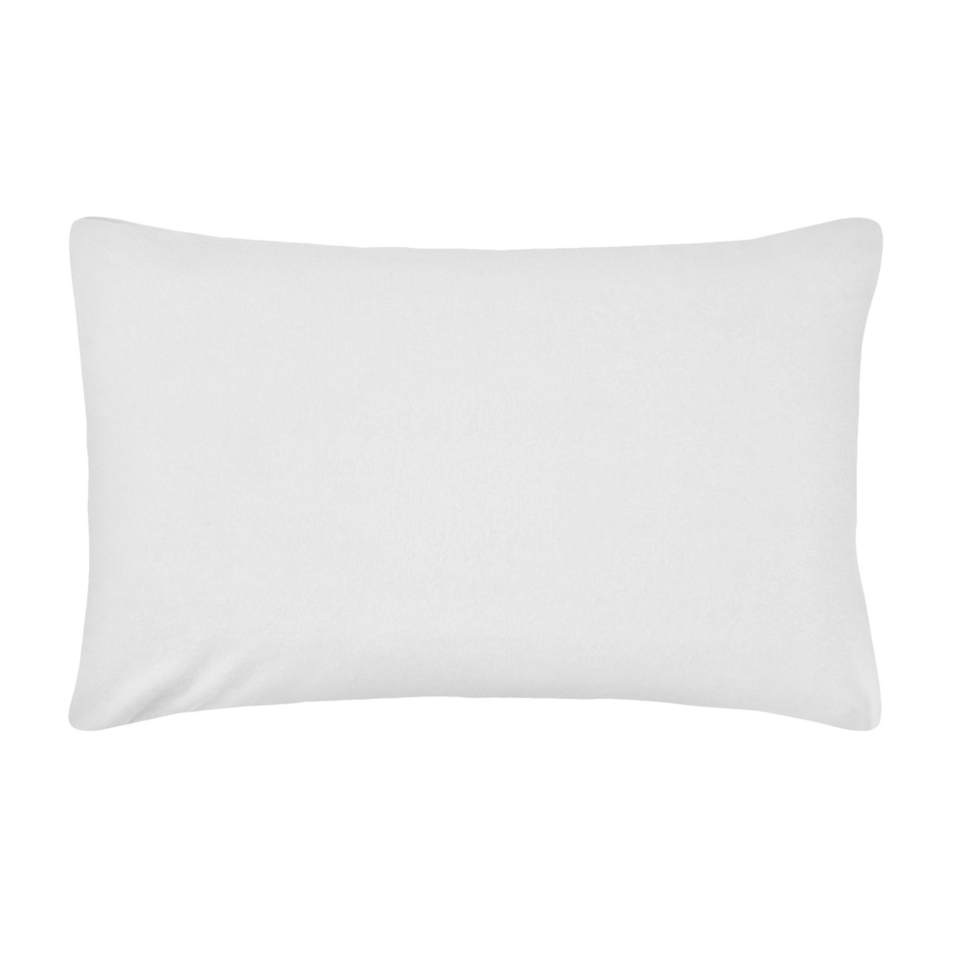 Copriguanciale raso di cotone, Bianco, large image number 0