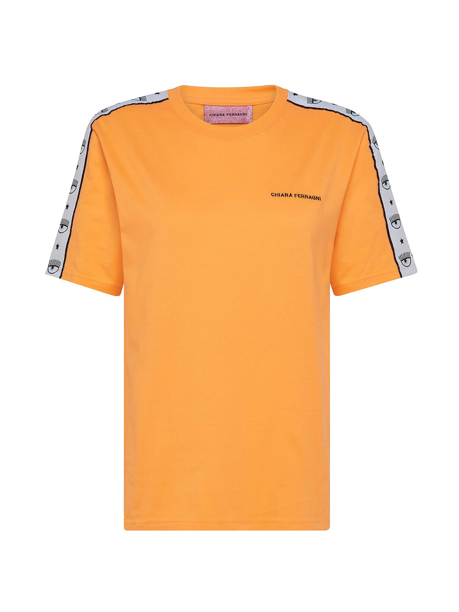 Logomania T-Shirt over, Arancione, large image number 0