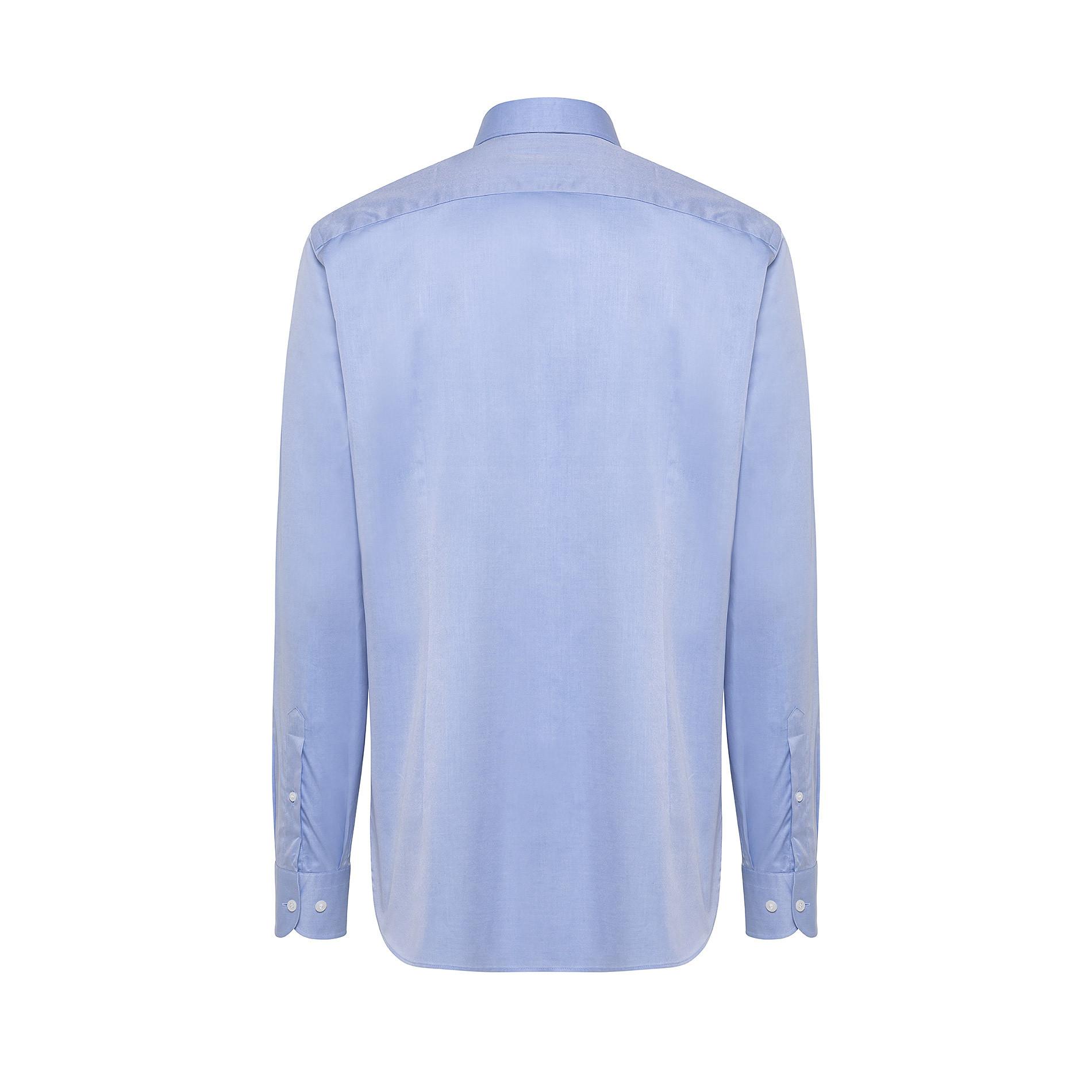 Camicia colletto francese in twill di cotone, Azzurro, large image number 1