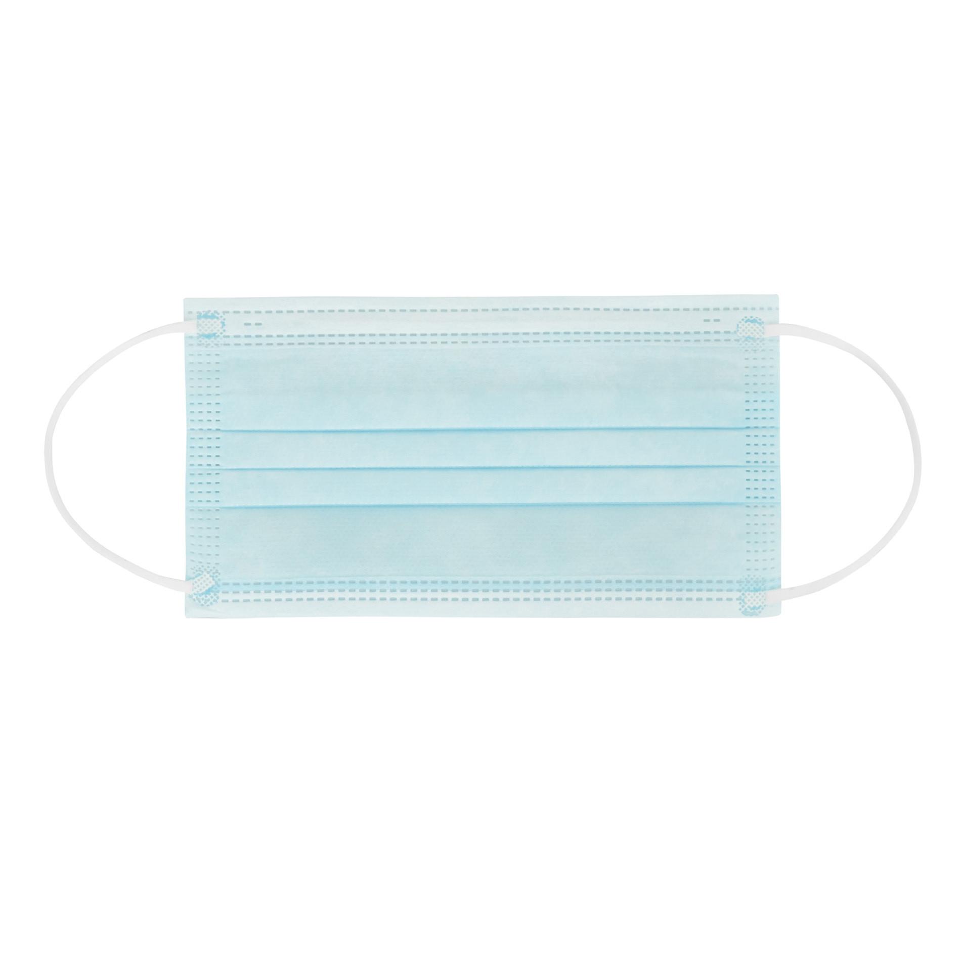 Confezione 50 mascherine chirurgiche EDG, Azzurro, large image number 1