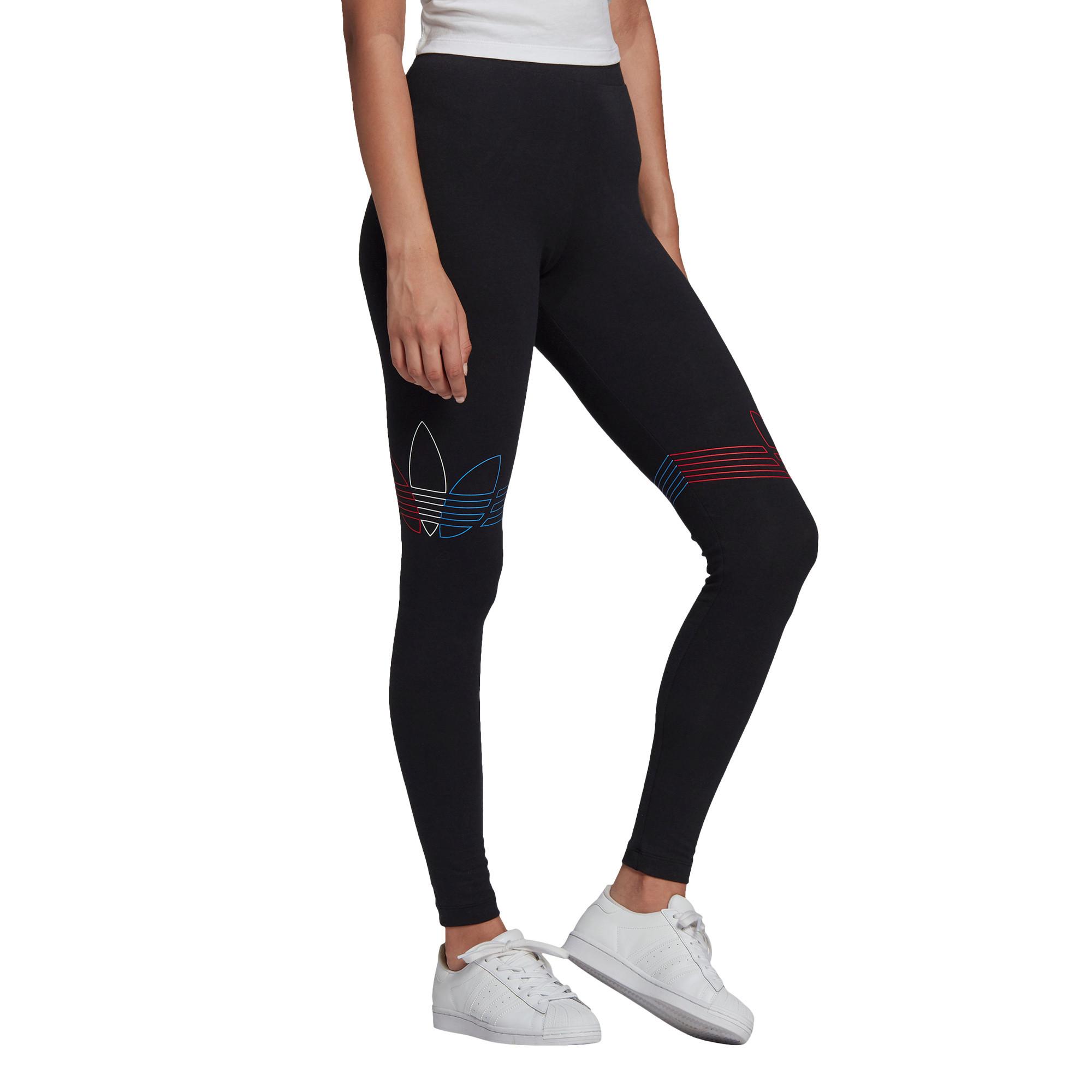 Leggings Loungewear adicolor Tricolor, Nero, large image number 3