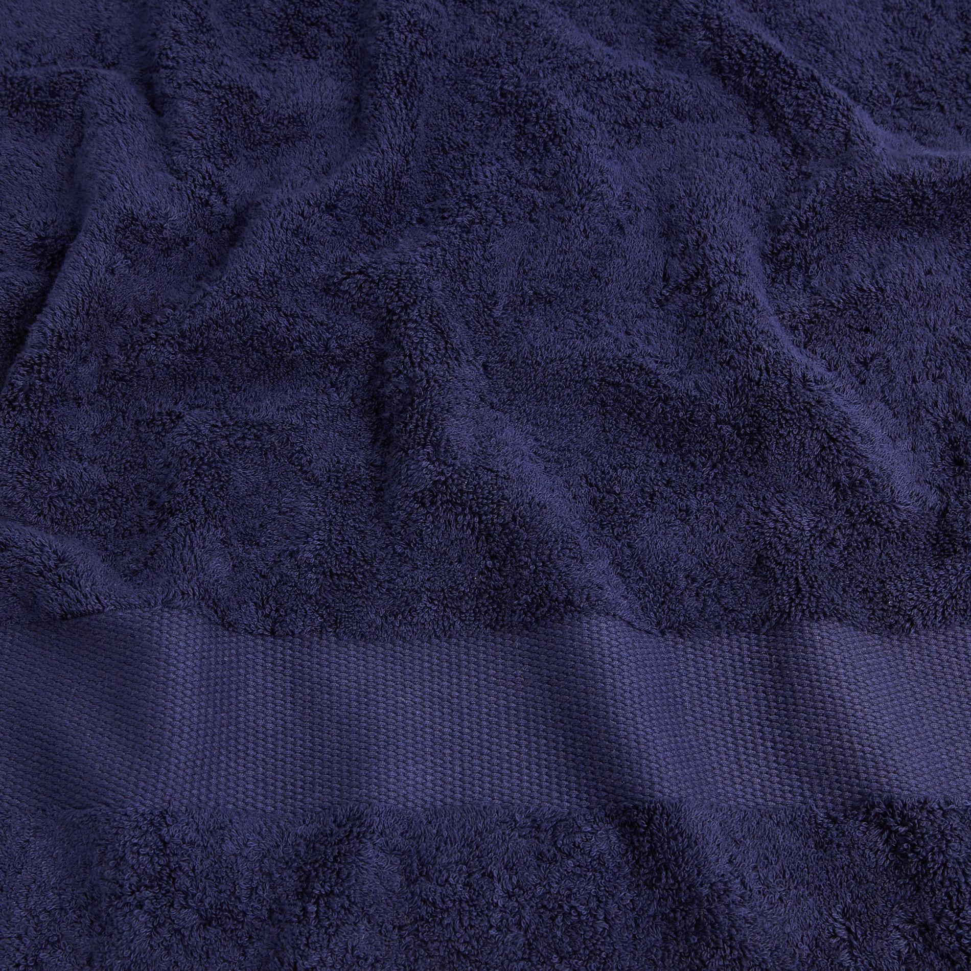 Asciugamano spugna di puro cotone Zefiro, Blu scuro, large image number 3