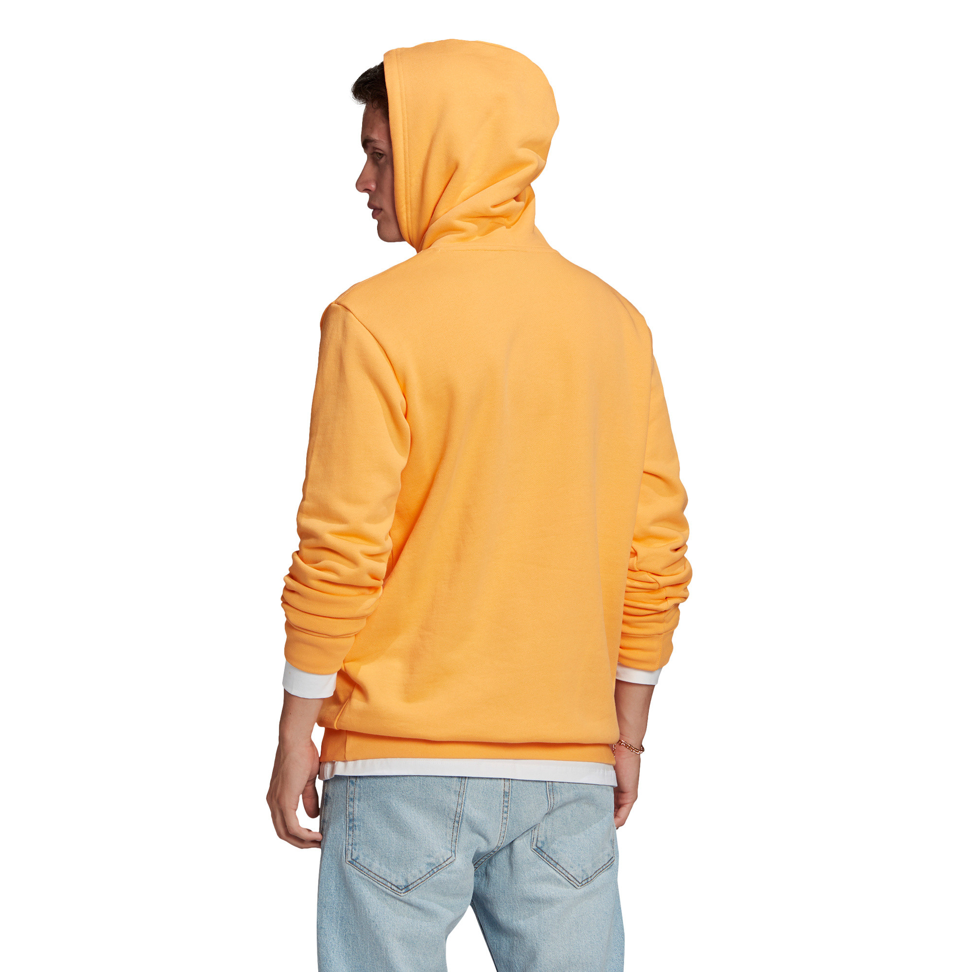 Felpa in spugna loungewear trefoil essentials, Arancione, large image number 2