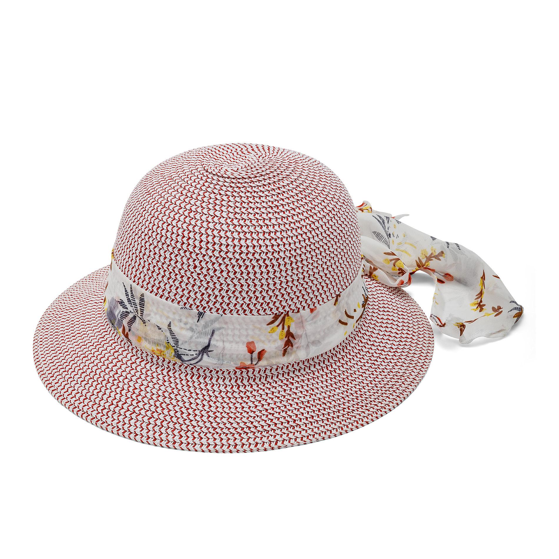 Cappello di paglia multicolor Koan, Bianco, large image number 0