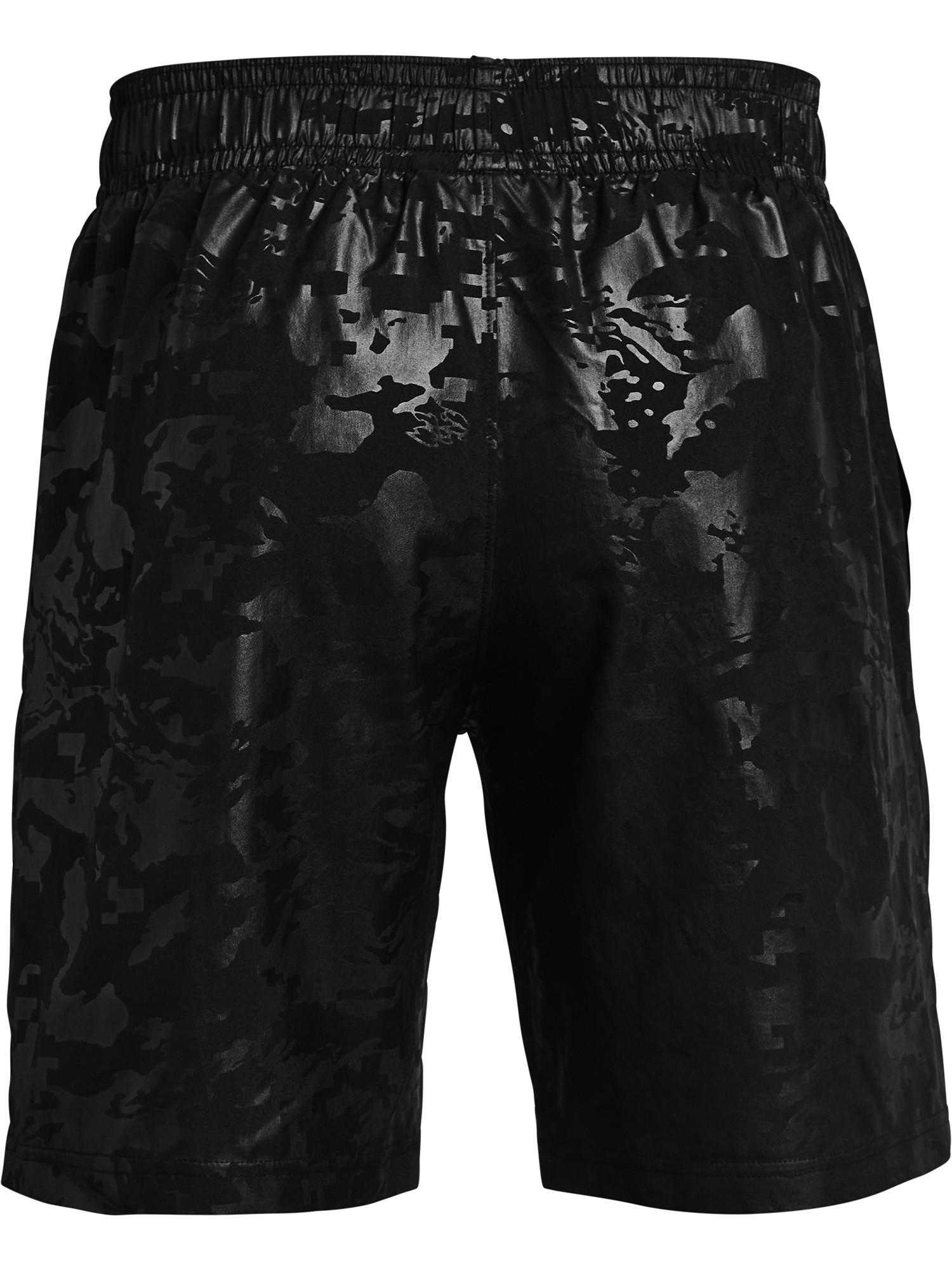 Shorts UA Woven Emboss da uomo, Nero, large image number 1