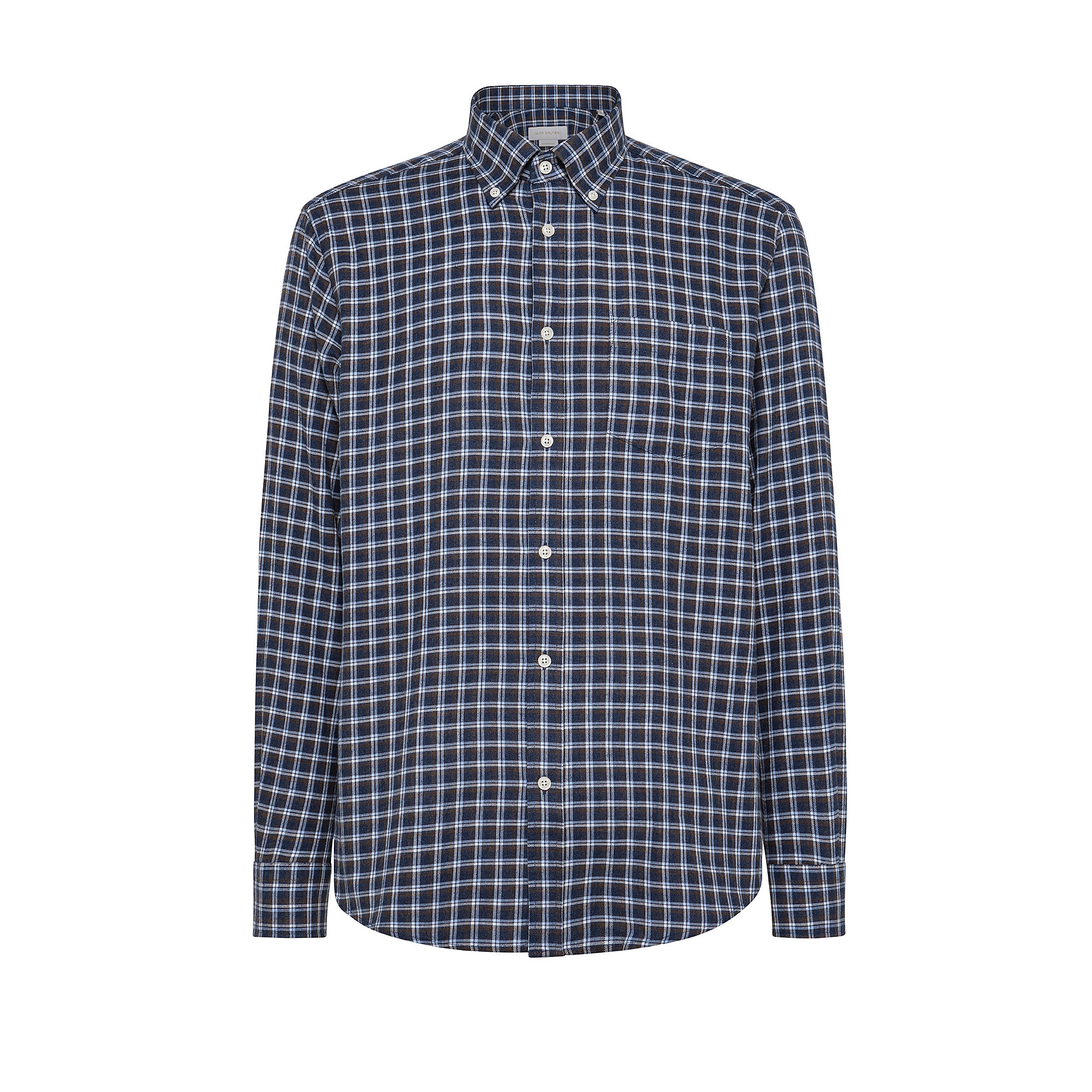 Camicia button-down regular fit in cotone organico, Marrone, large image number 0