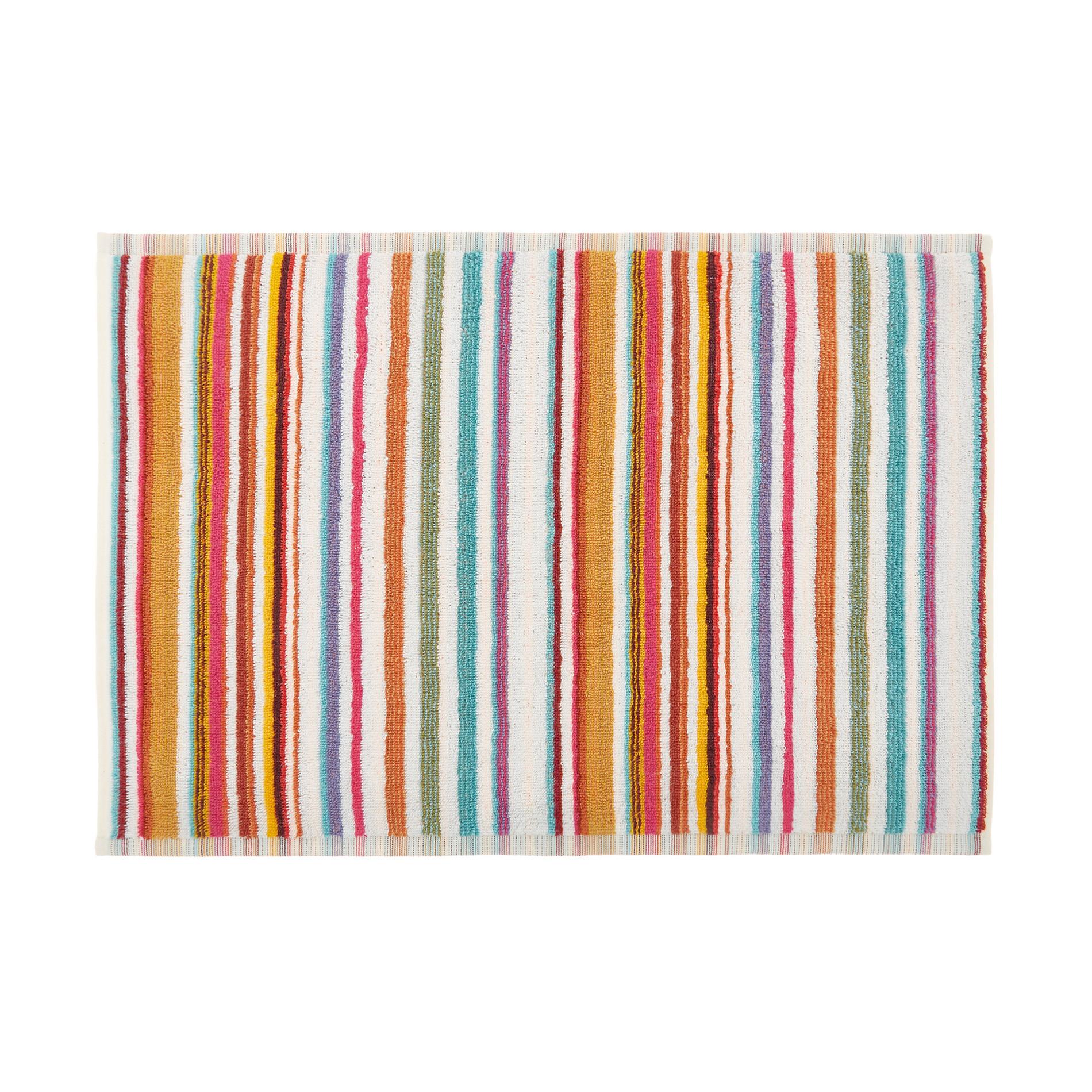 Asciugamano cotone tinto filo a righe, Arancione, large image number 2