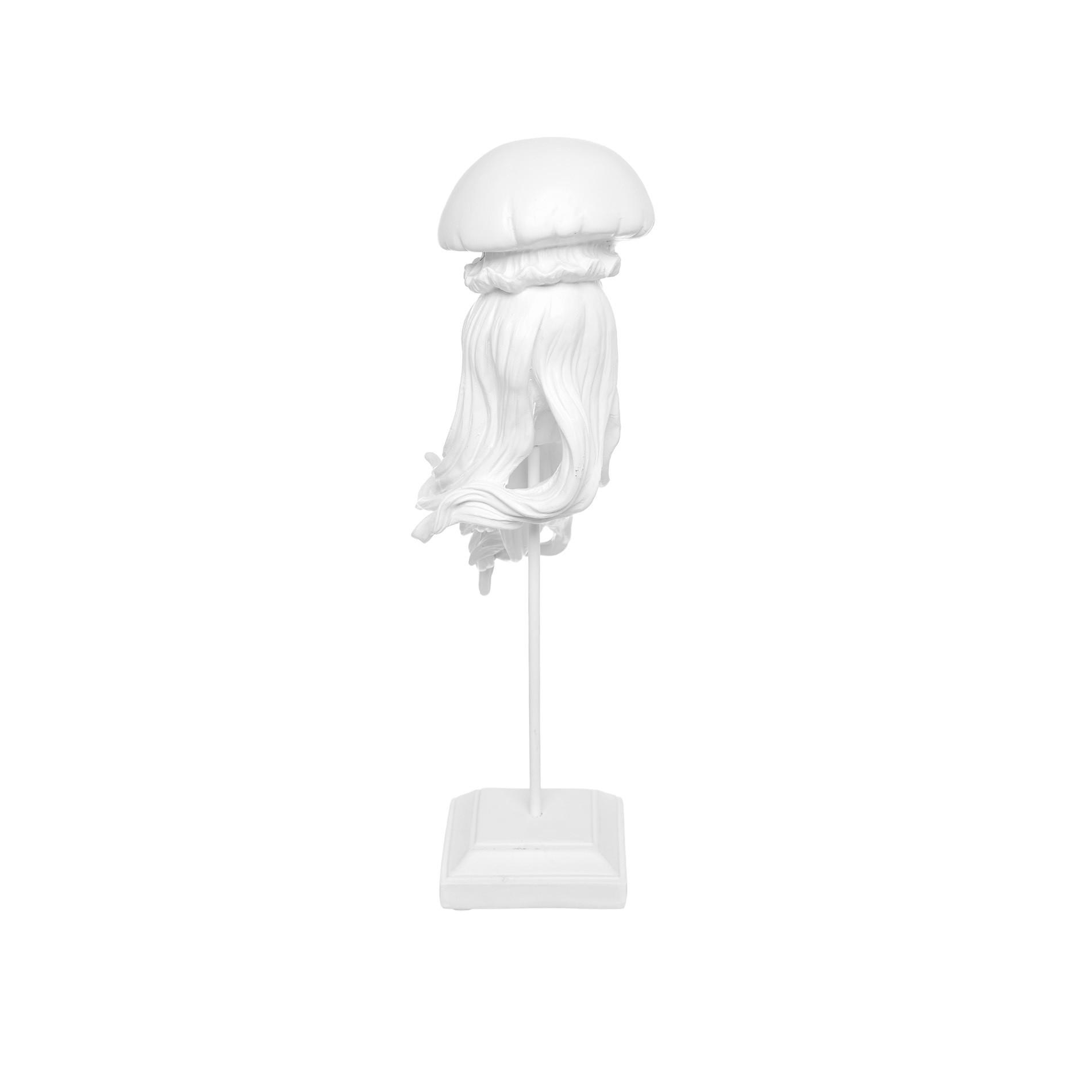 Medusa decorativa rifinita a mano, Bianco, large image number 1