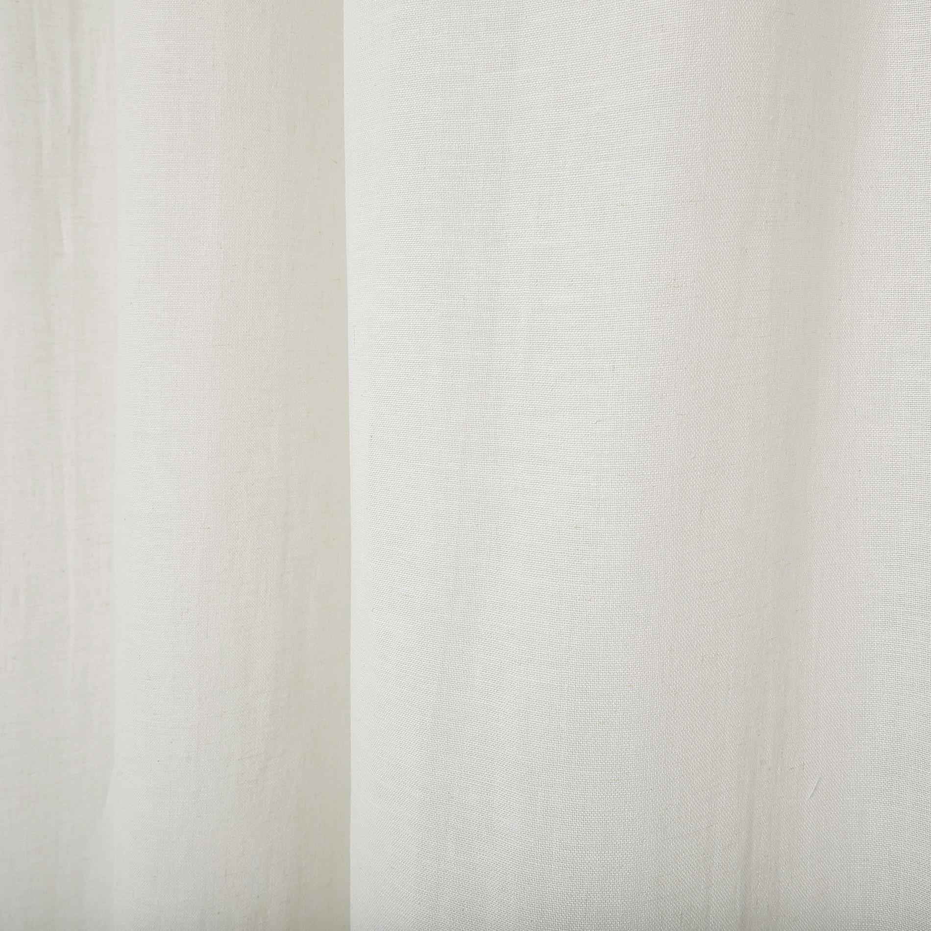 Tenda misto lino con passanti nascosti, Bianco, large image number 0