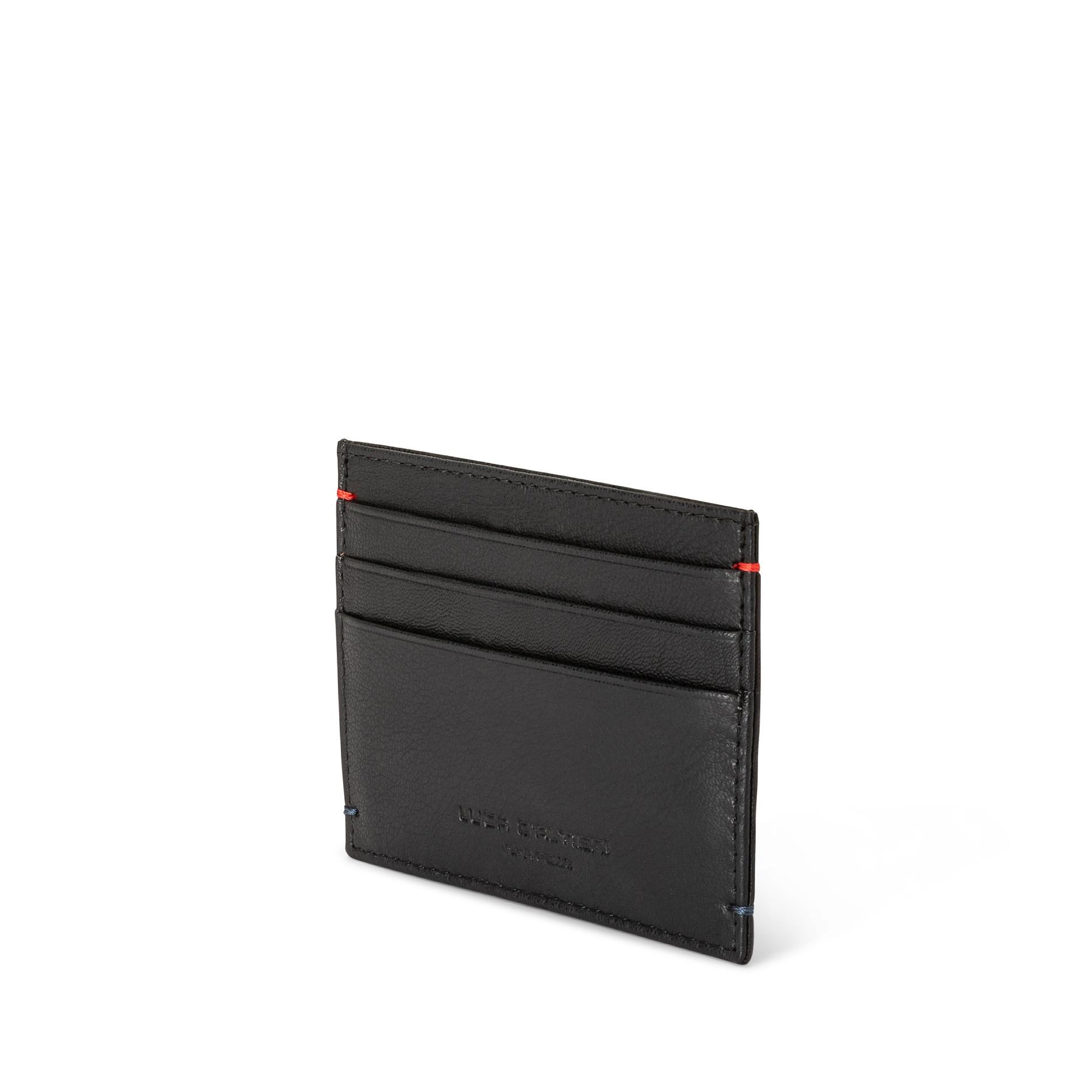 Porta carte in pelle, Nero, large image number 1