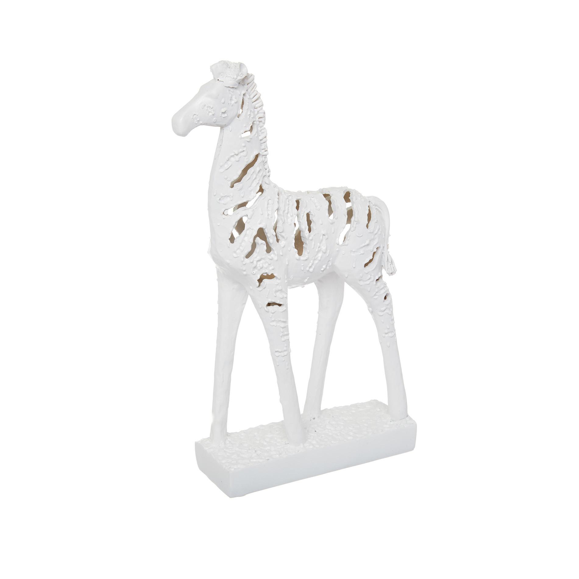 Zebra decorativa rifinita a mano, Bianco, large image number 0