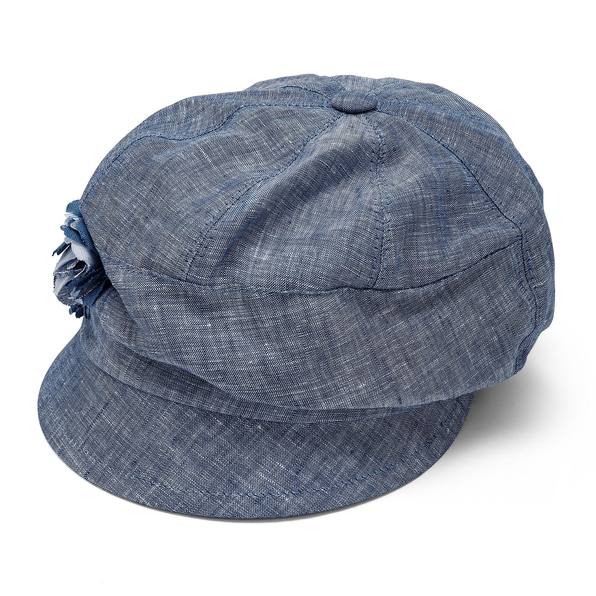 Cappello di lino con banda Koan, Azzurro, large image number 0