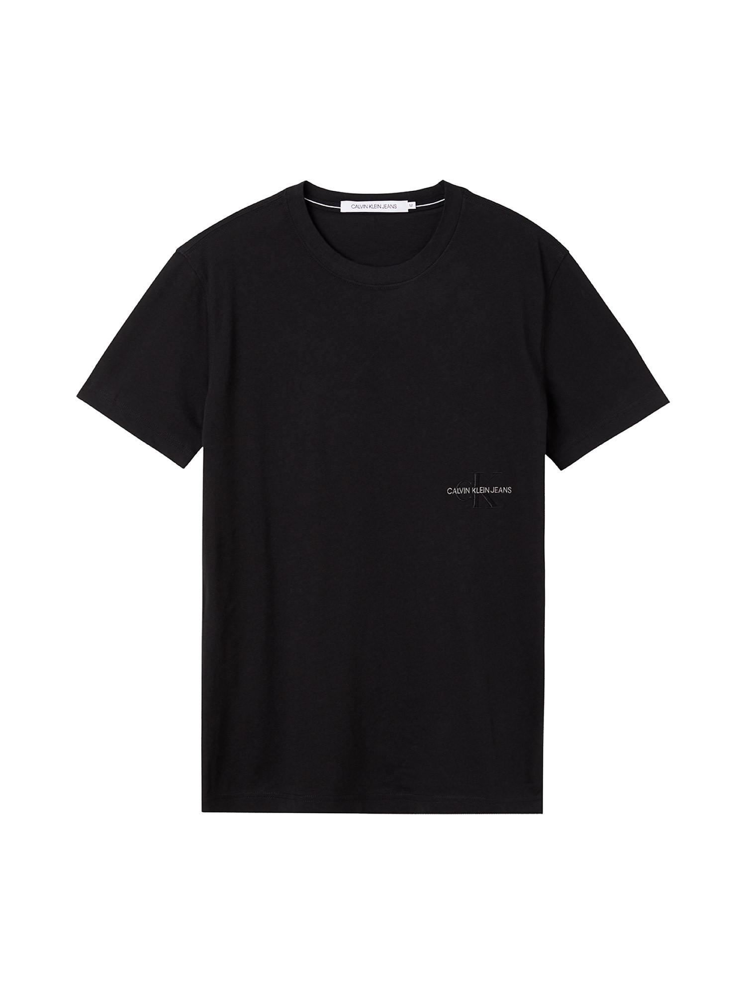 T-shirt slim in cotone biologico, Nero, large image number 0