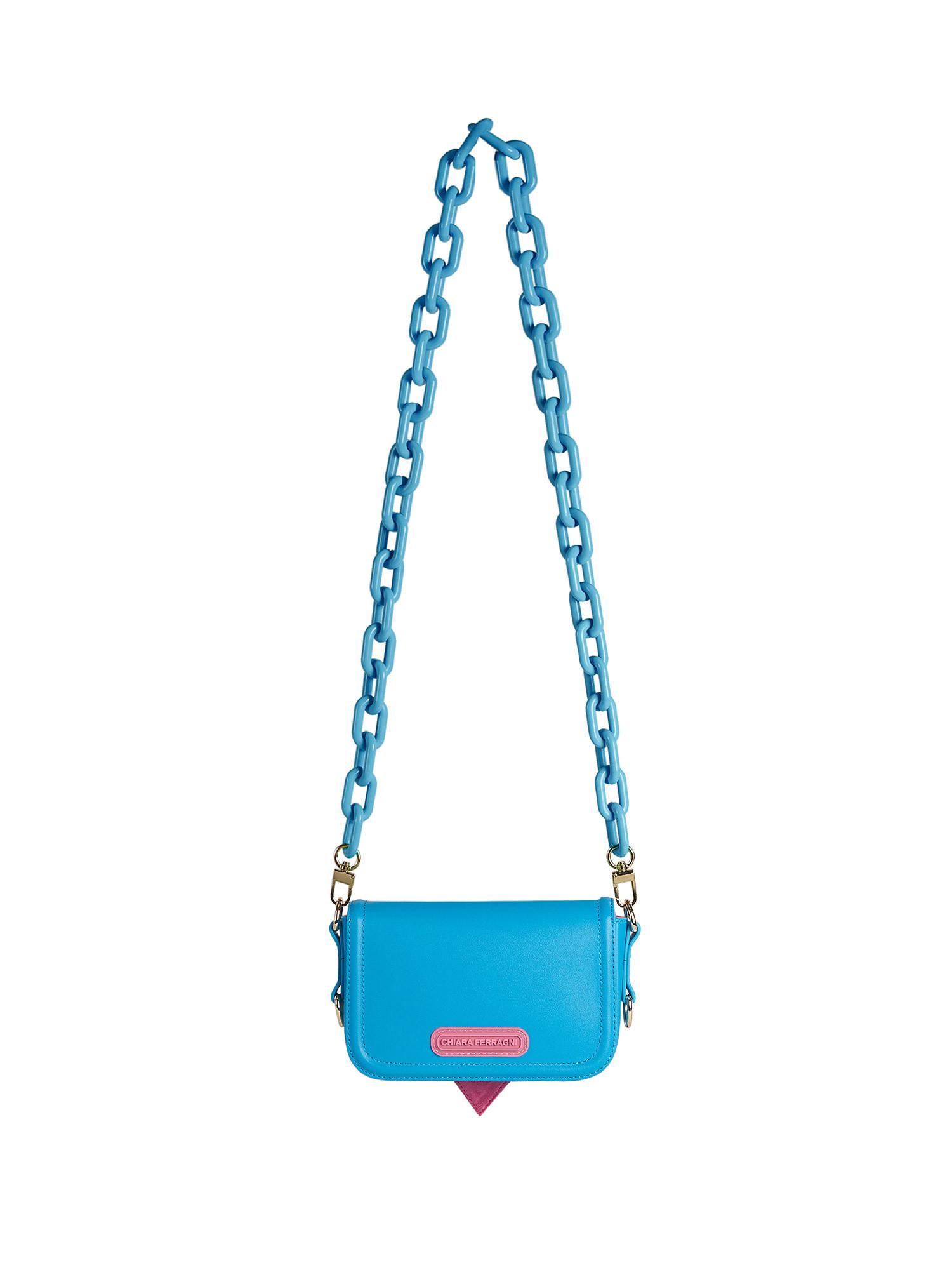 Small Eyelike Bag, Azzurro, large image number 1