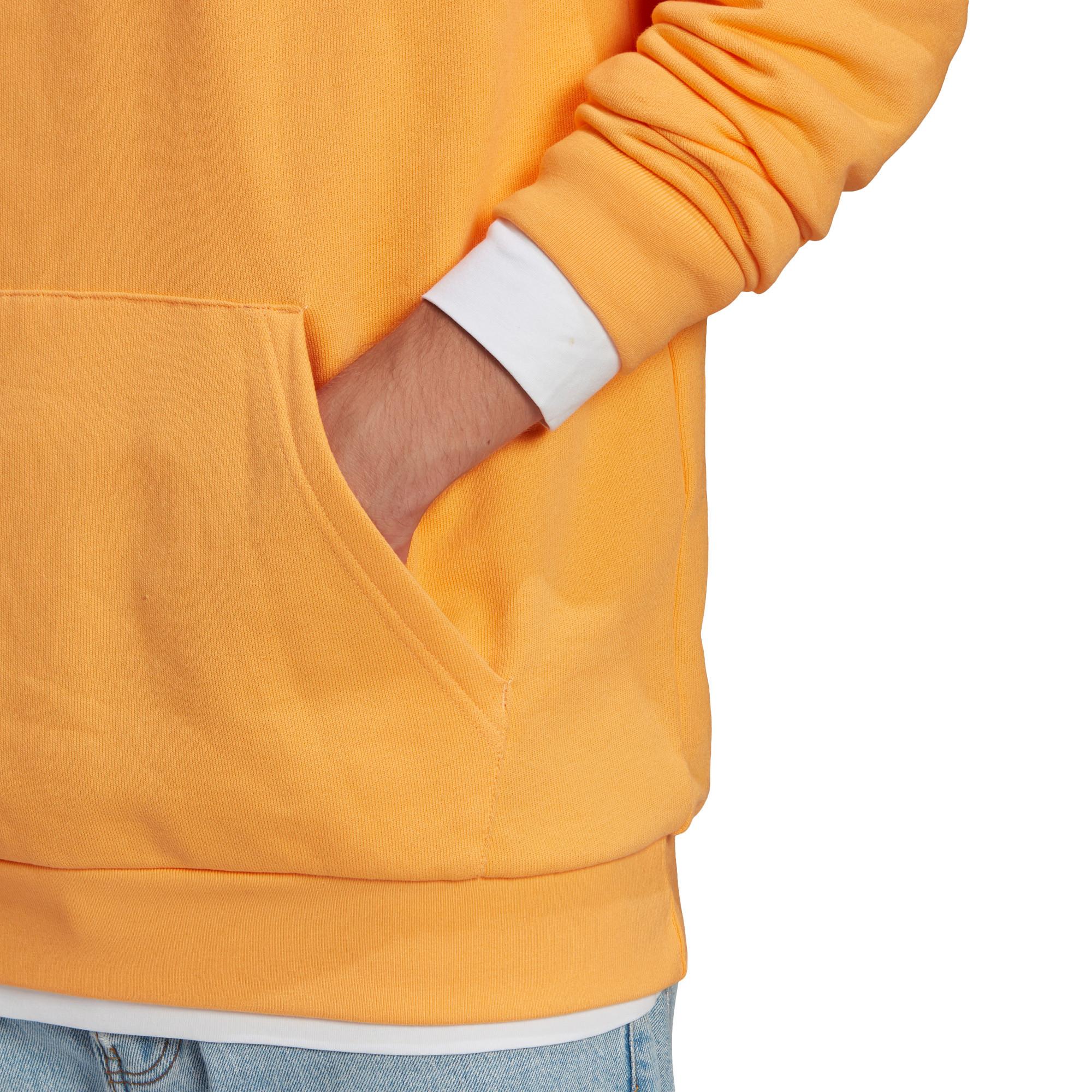 Felpa in spugna loungewear trefoil essentials, Arancione, large image number 4