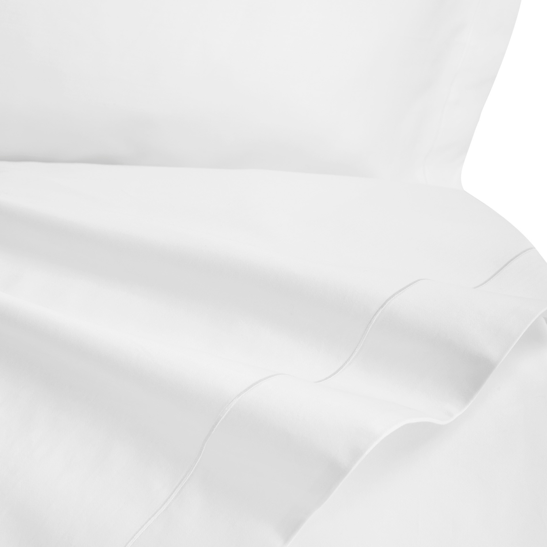 Lenzuolo liscio raso alta qualità Interno 11, Bianco, large image number 1