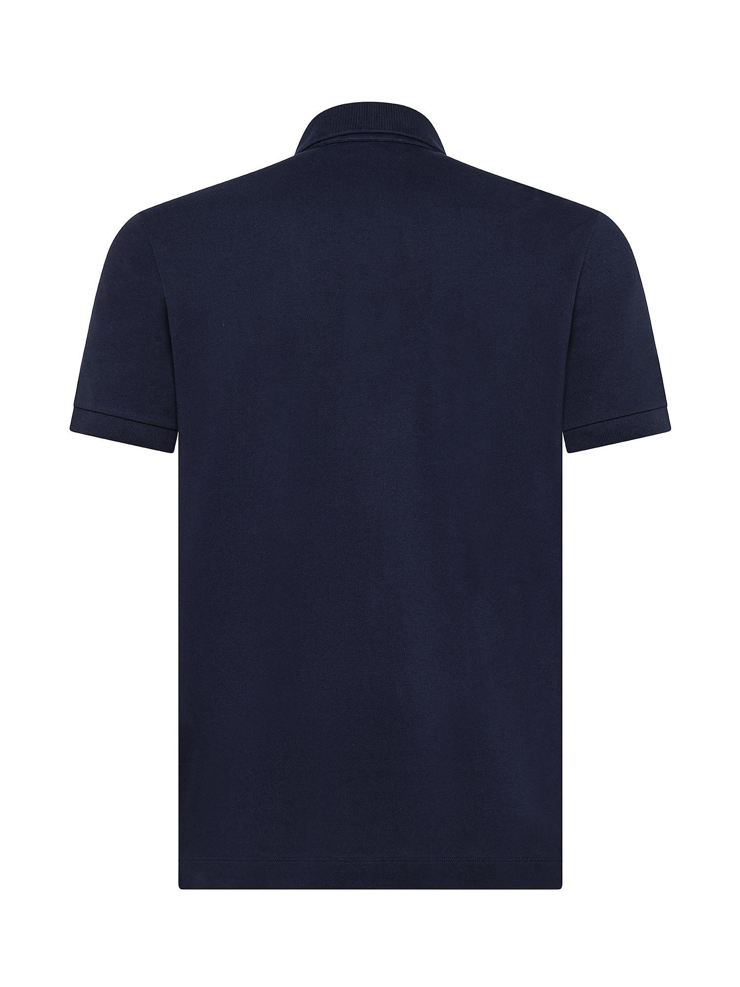 Polo regular fit di cotone, Blu, large image number 1