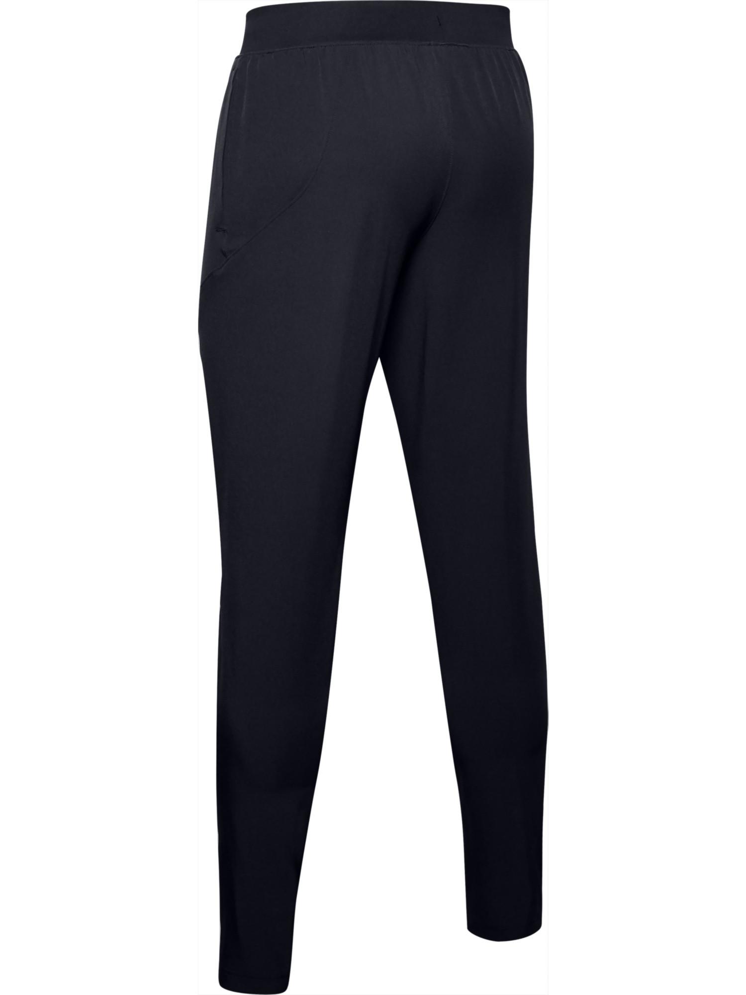Pantaloni affusolati UA Flex Woven da uomo, Nero, large image number 2