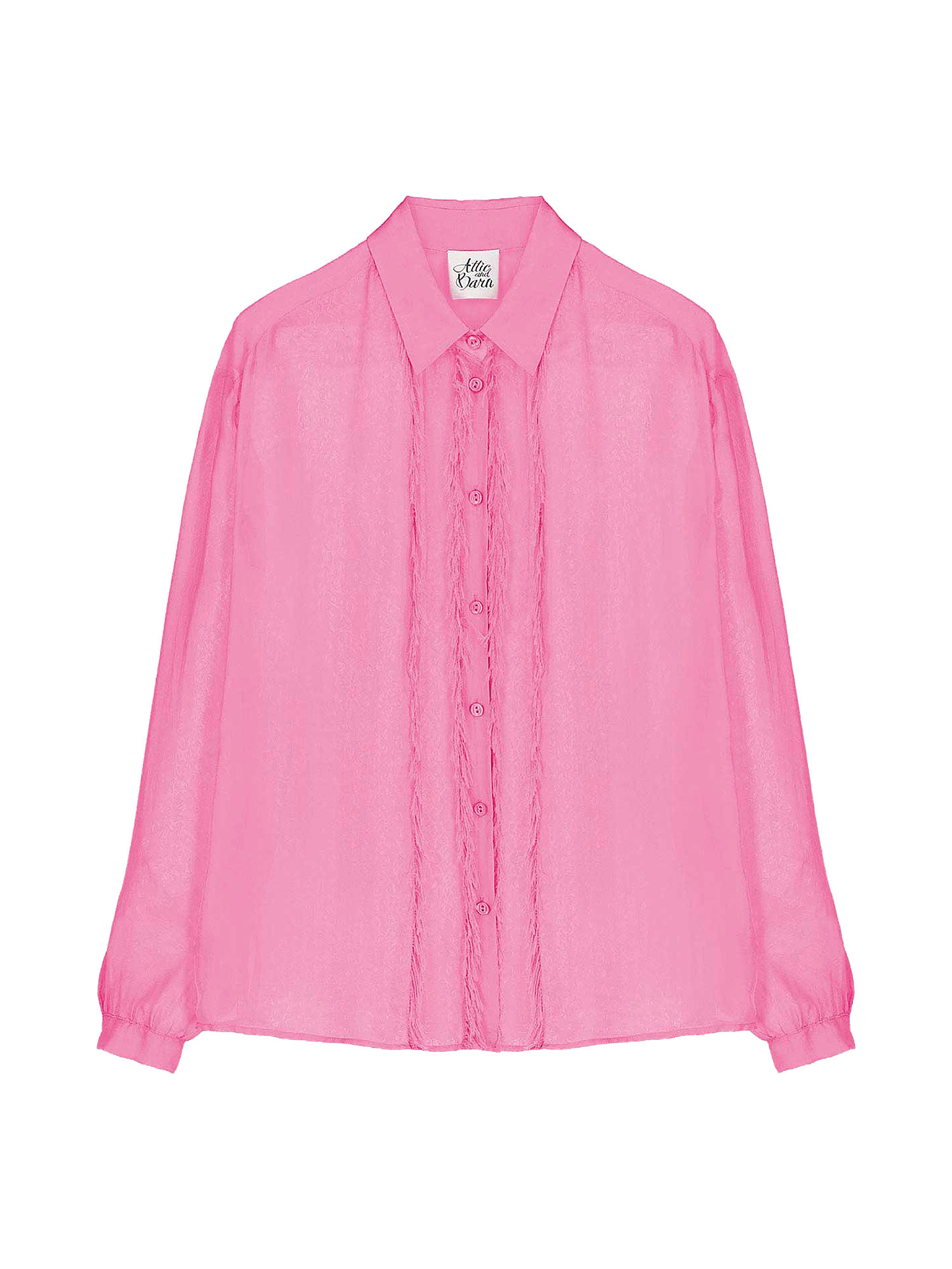 Camicia in chiffon Vanilla, Rosa fuxia, large image number 0