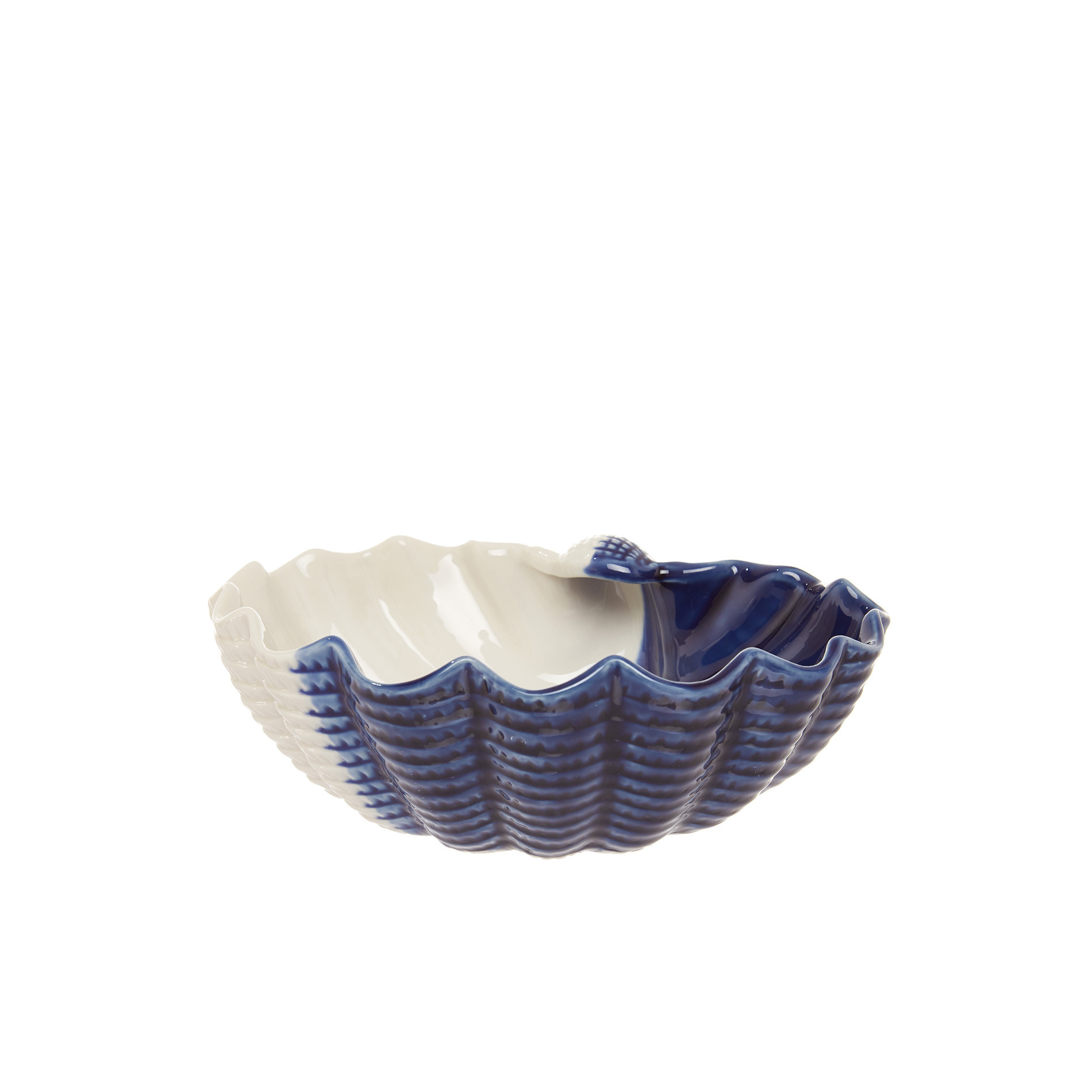 Coppa porcellana a conchiglia, Bianco/Blu, large image number 0