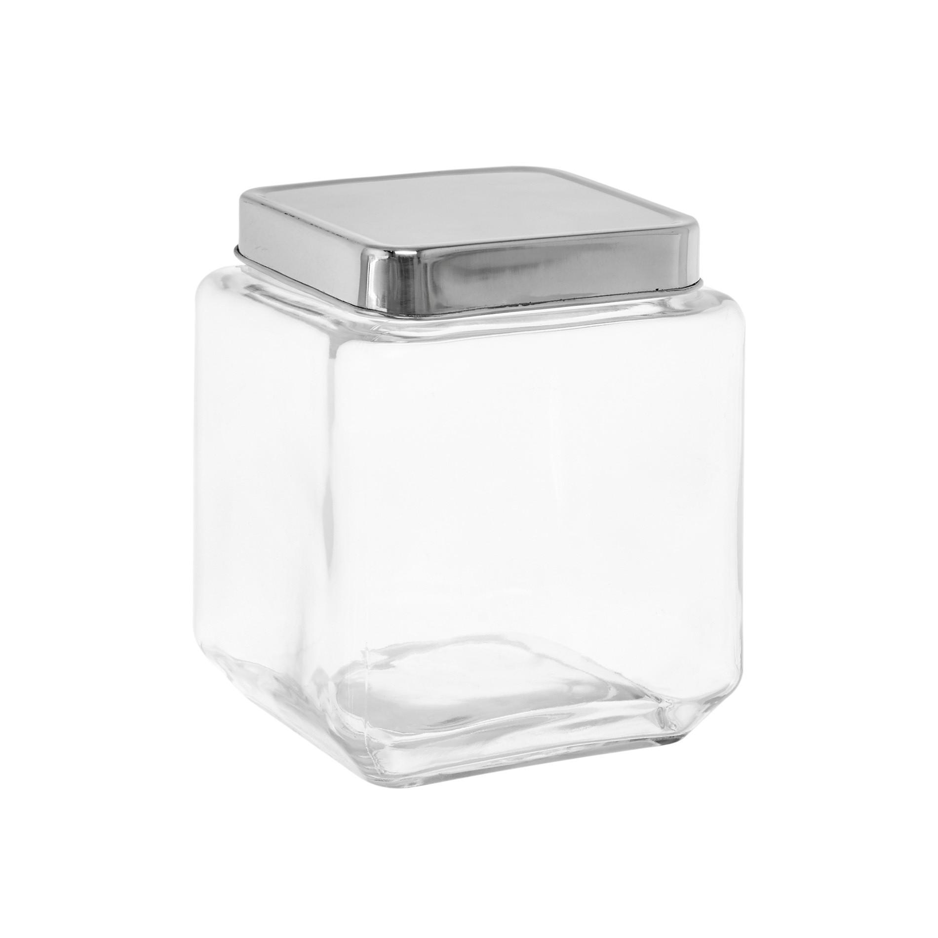 Barattolo vetro tappo inox 1.2Lt, Trasparente, large image number 0
